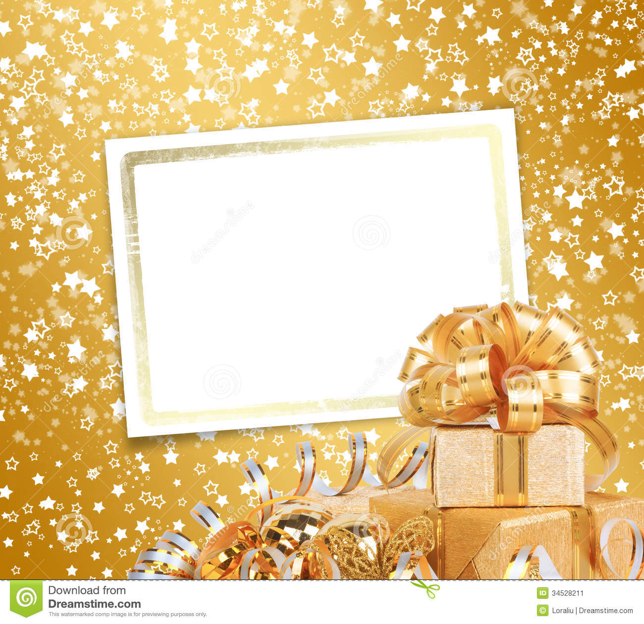 Greeting Card With Frame On A Beautiful Background Stock Image