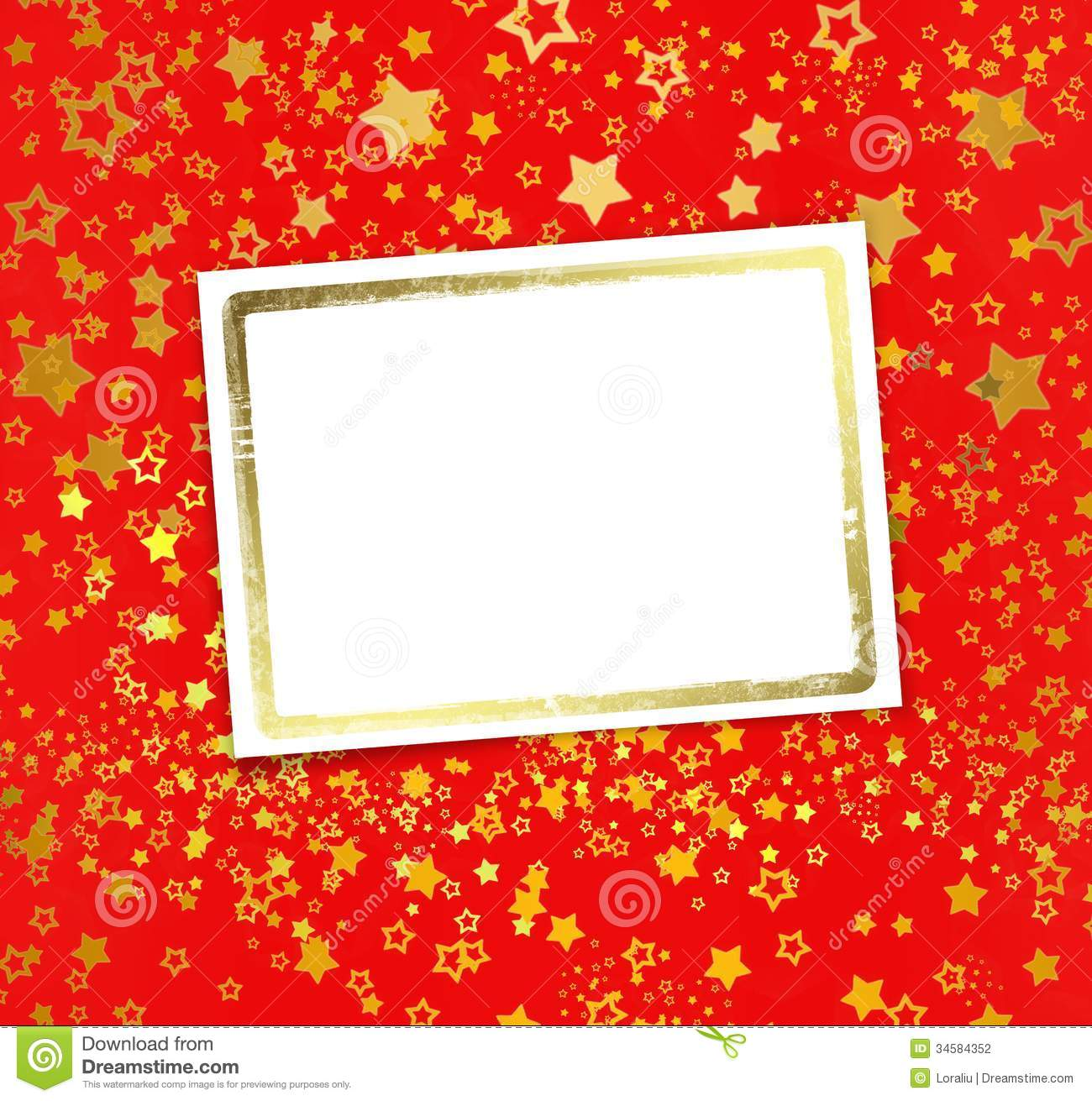 greeting card with frame on a beautiful background stock