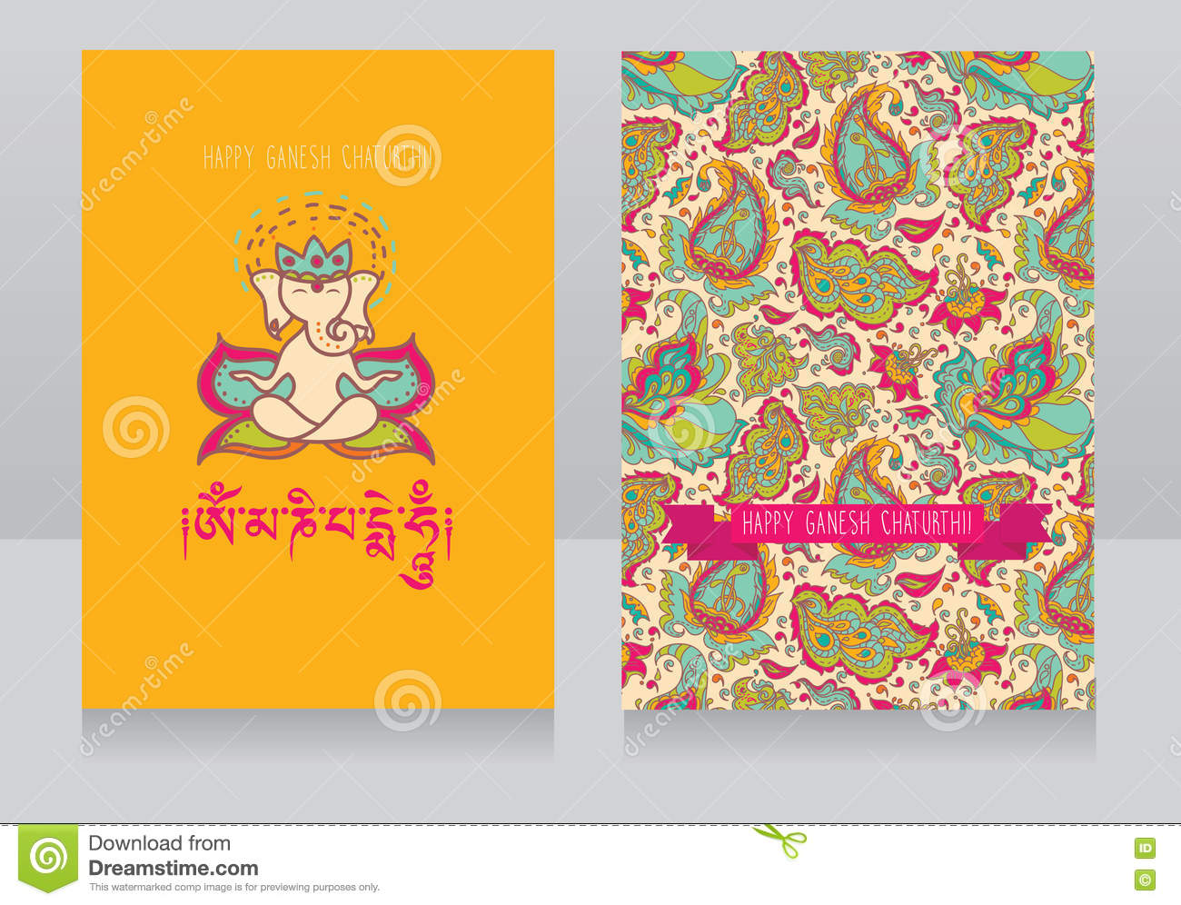 Greeting Card For Ganesh Chaturthi Stock Vector Illustration Of