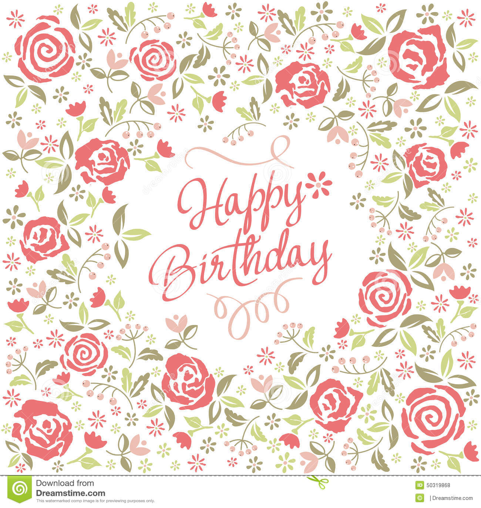 Greeting Card Happy Birthday Stock Vector Illustration Of