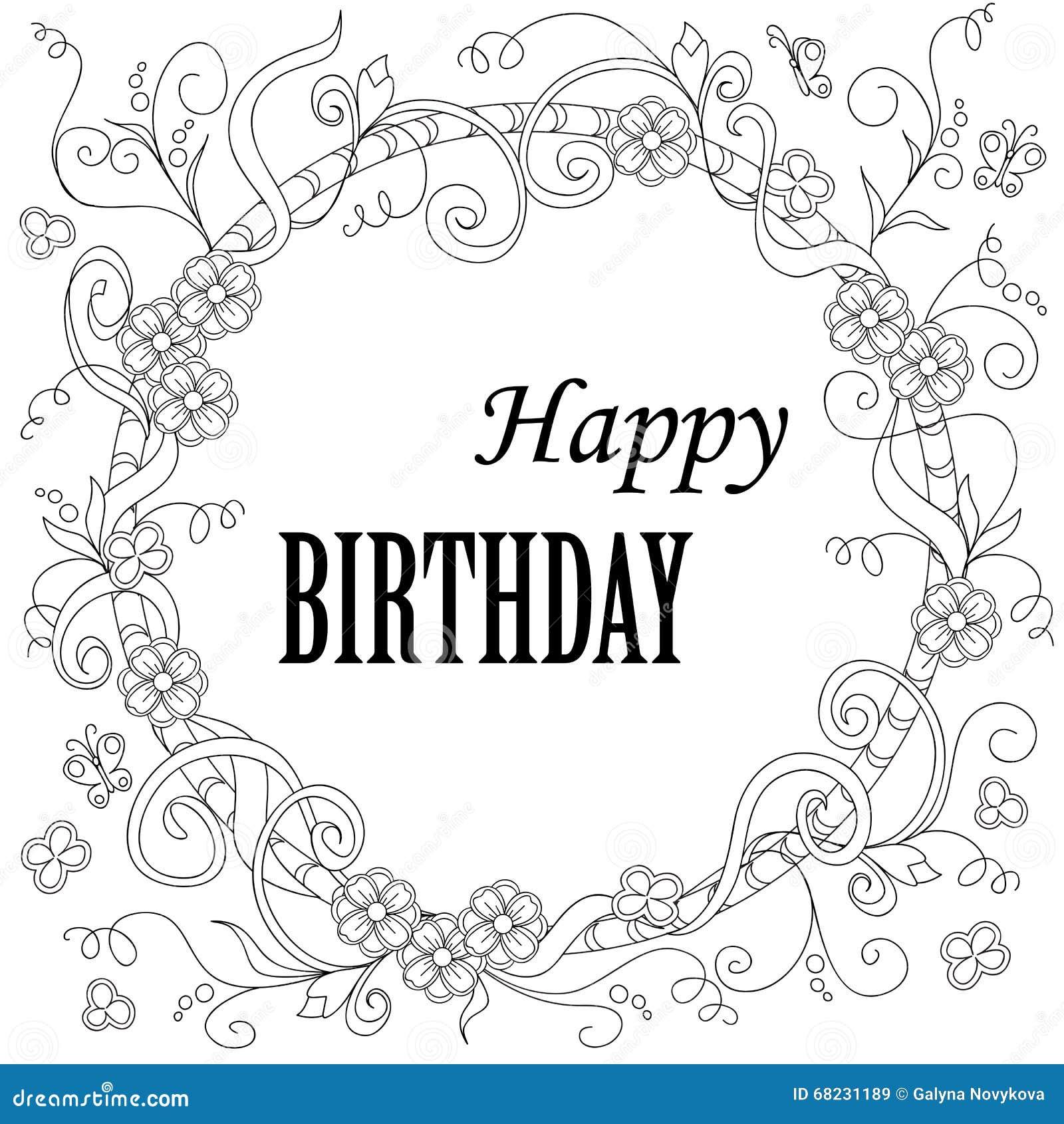 greeting card happy birthday stock vector illustration