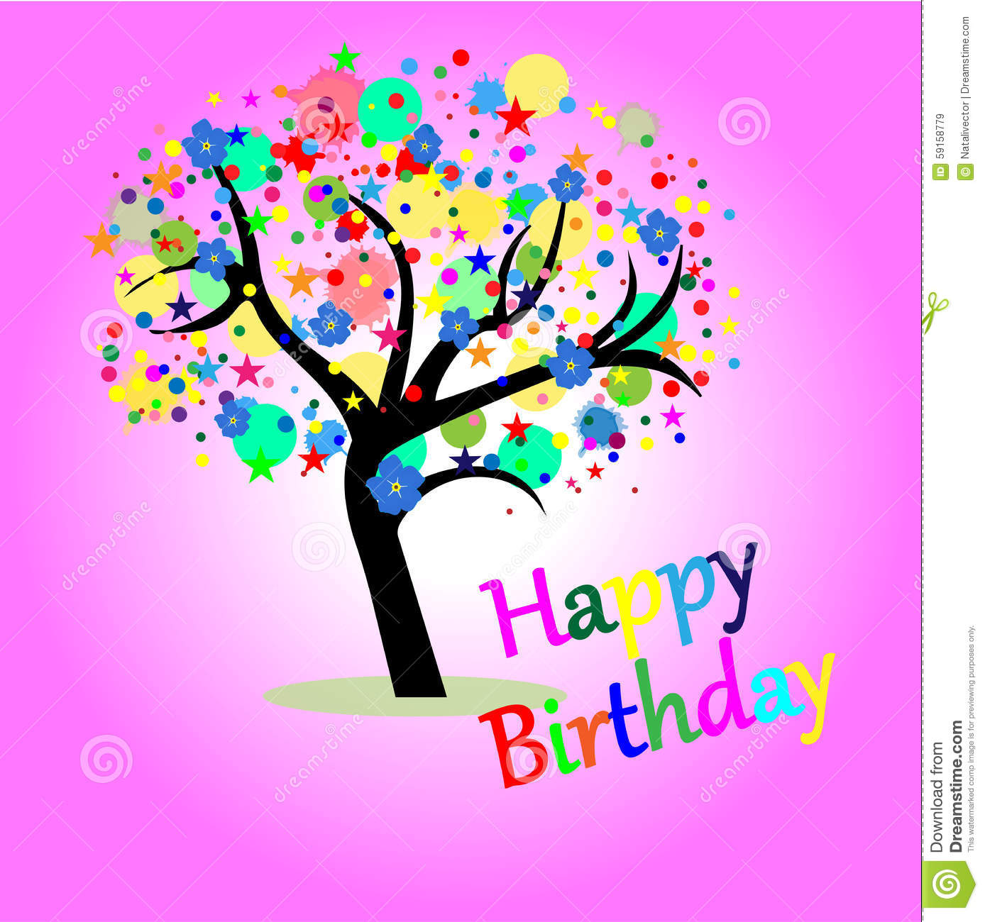 Greeting Card Happy Birthday Royalty Free Stock Images