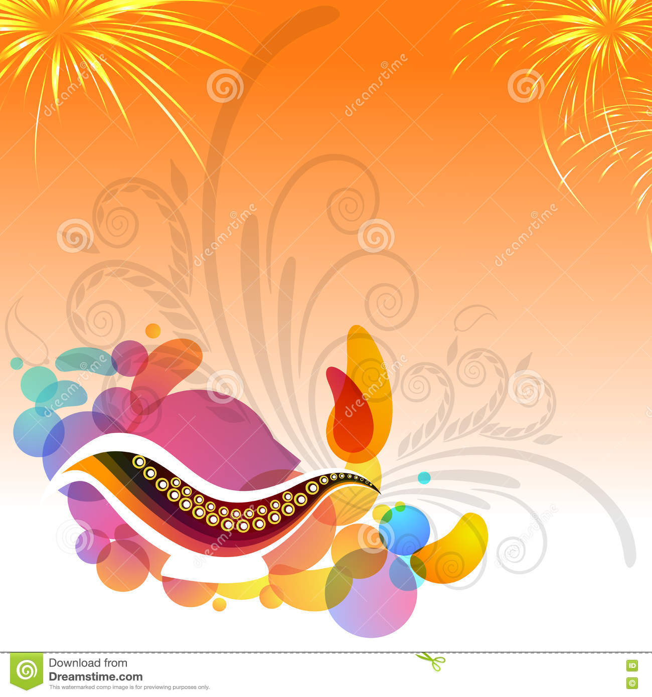 Greeting card for happy diwali celebration stock illustration greeting card for happy diwali celebration m4hsunfo