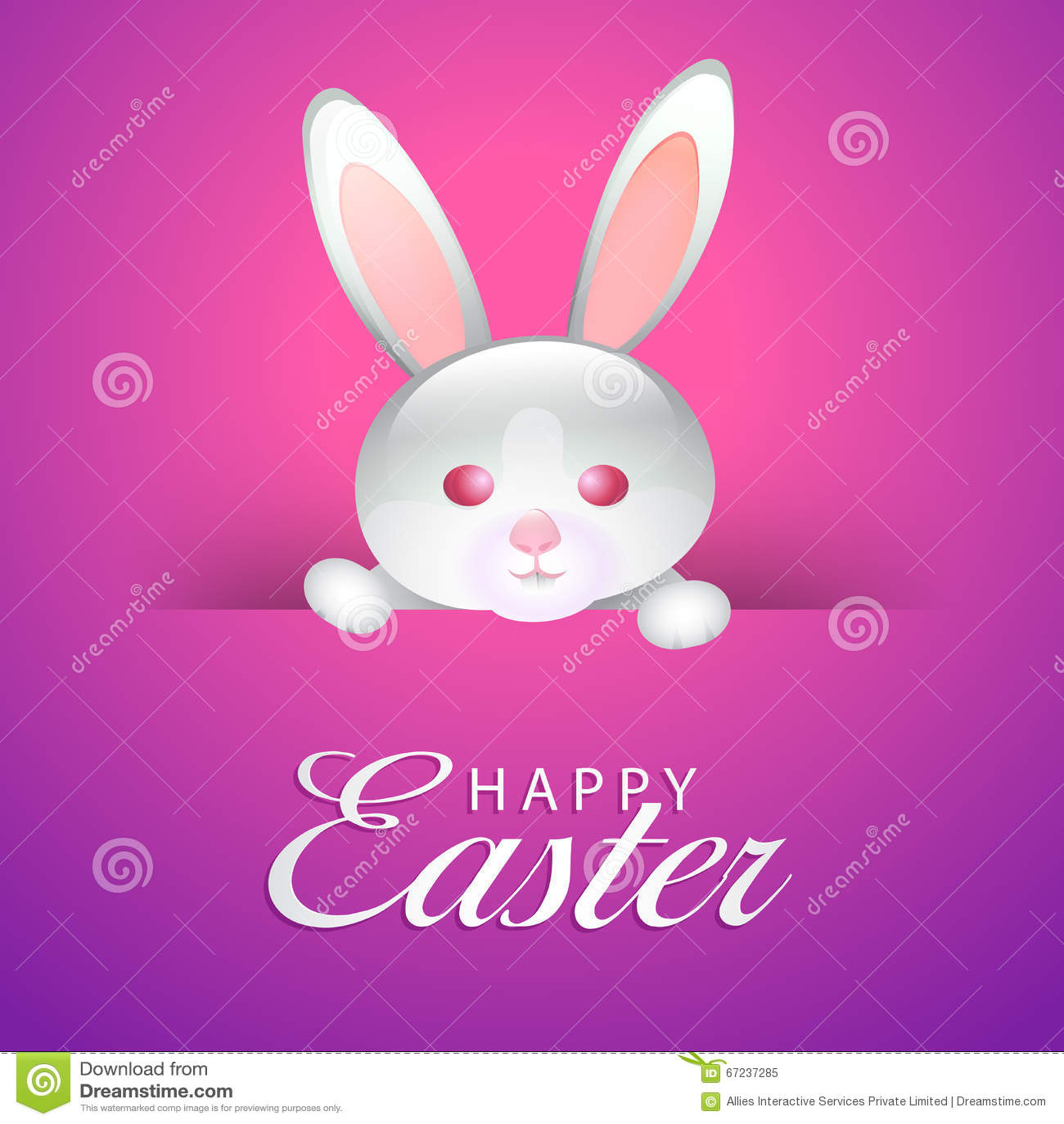 Greeting Card For Happy Easter Celebration Stock Illustration