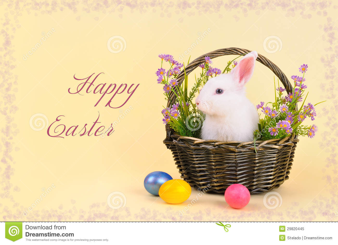 happy easter bunnies flowers-#6