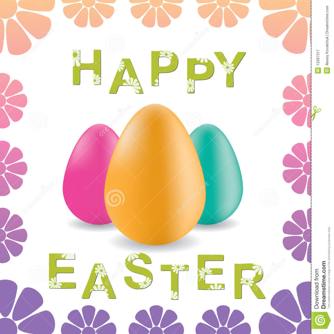 Greeting Card Happy Easter Vector Royalty Free Photography – Easter Greeting Cards
