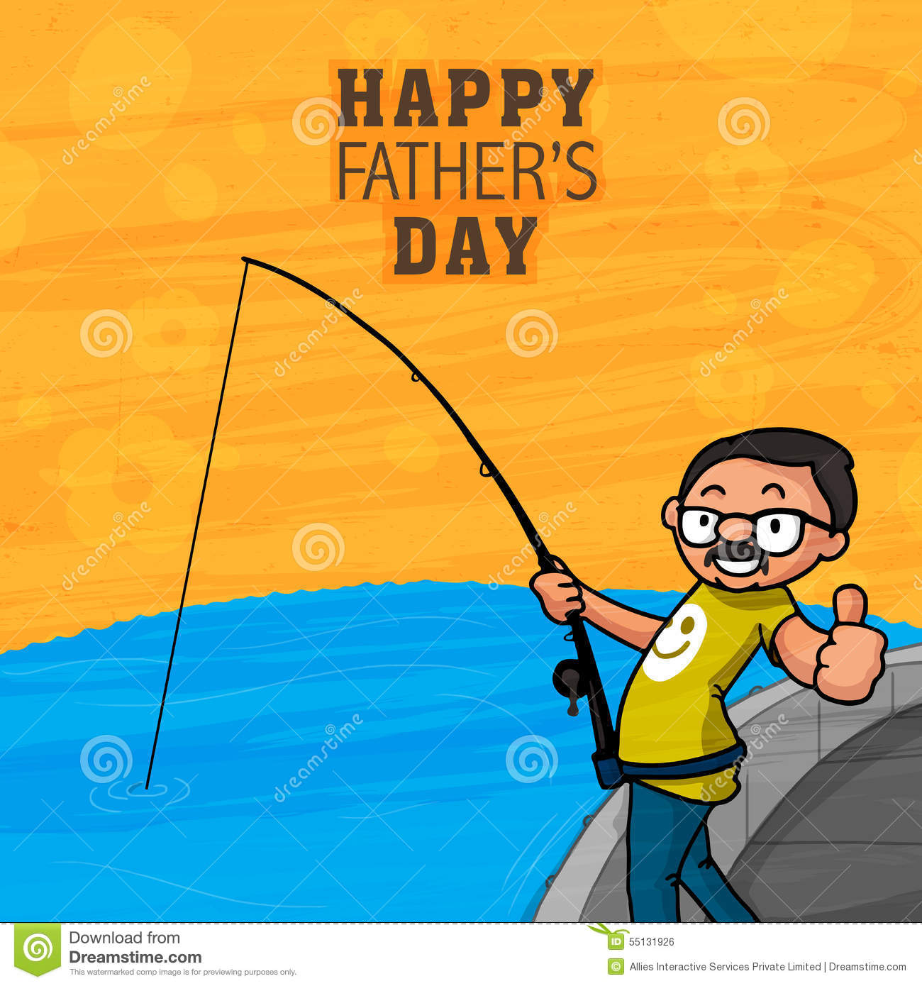 Greeting card for happy fathers day celebration stock illustration greeting card for happy fathers day celebration kristyandbryce Choice Image