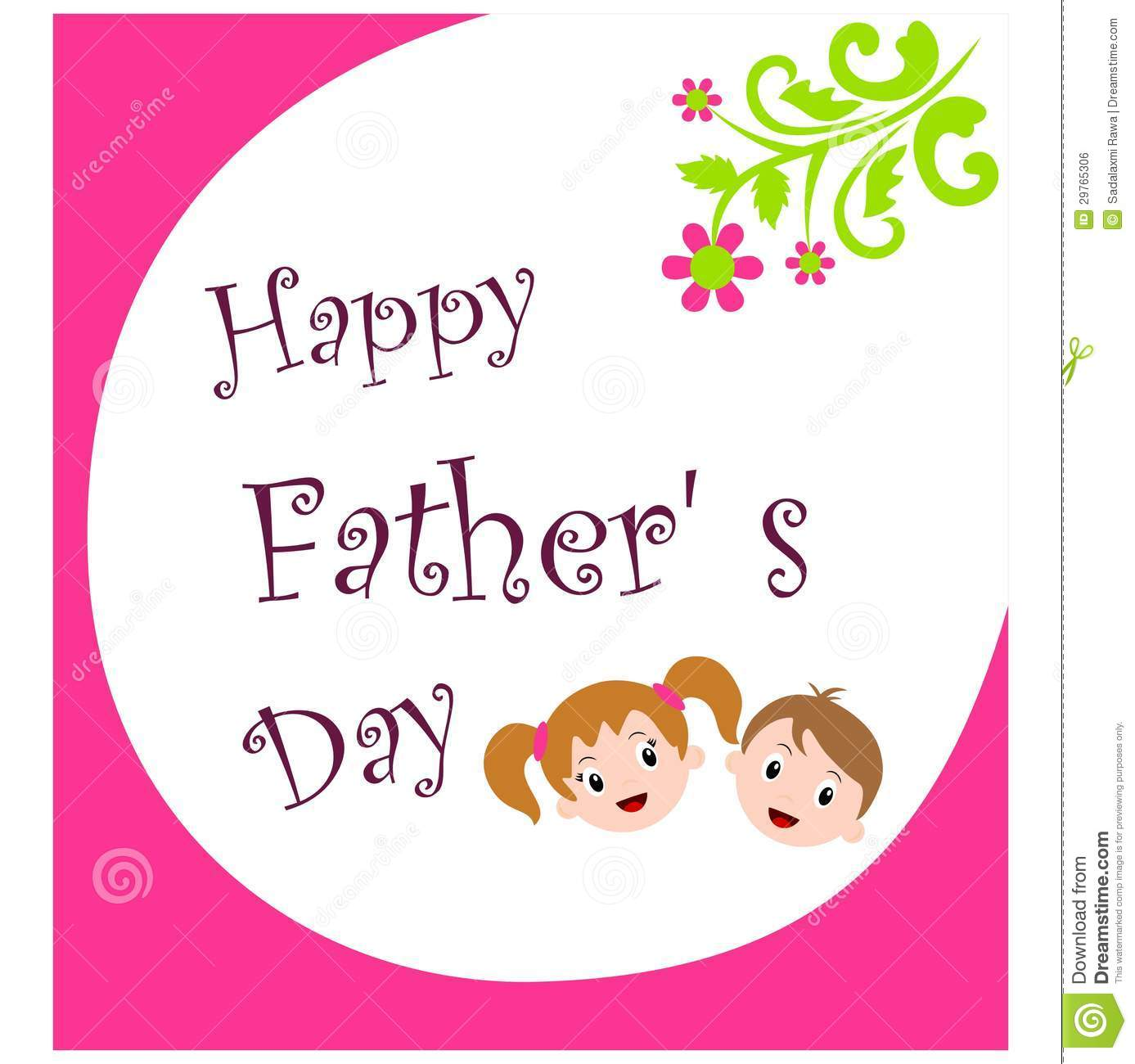 Happy Fathers Day Stock Vector Illustration Of Child 29765306
