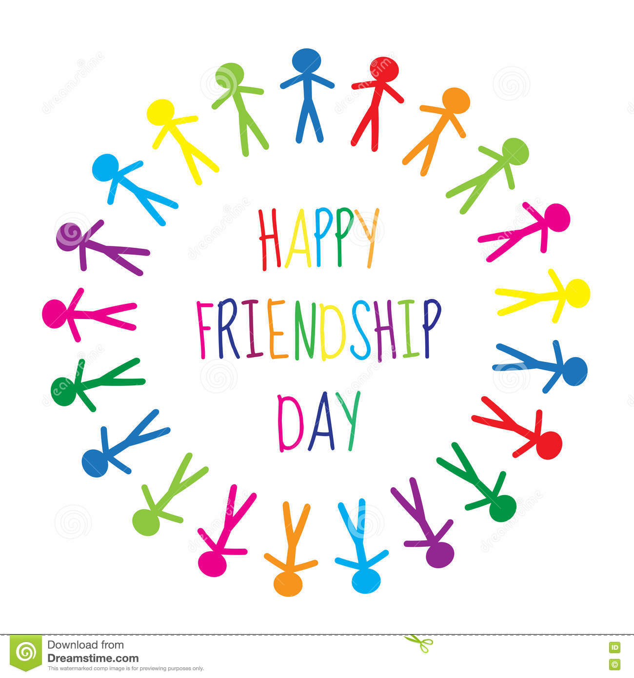 Greeting Card With A Happy Friendship Day Greeting Card People