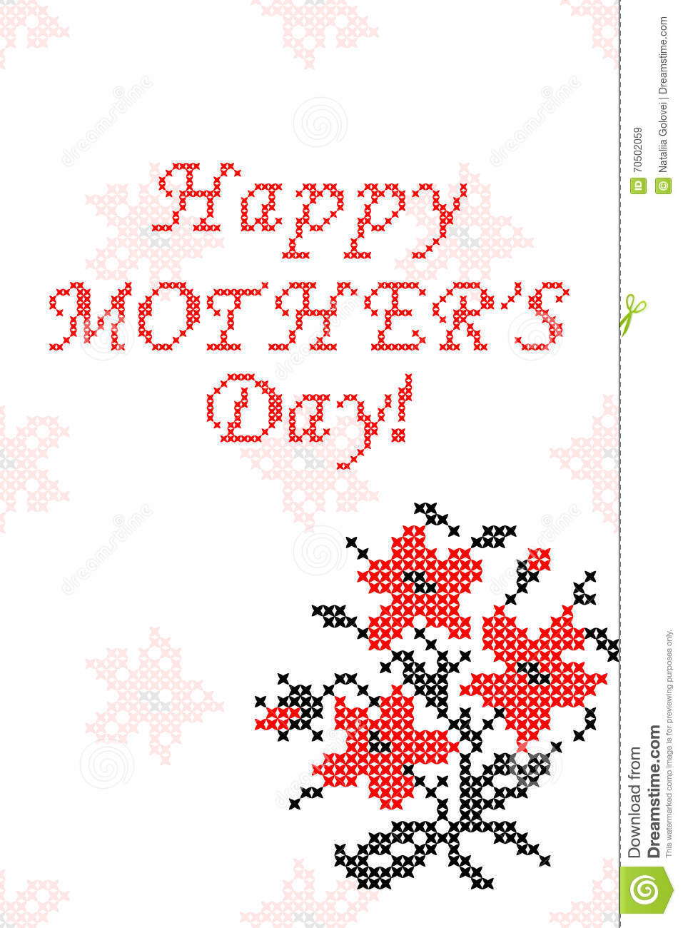 greeting card happy mother s day with flowers stock vector Happy Saturday Greetings Cats greeting card happy mother s day with flowers