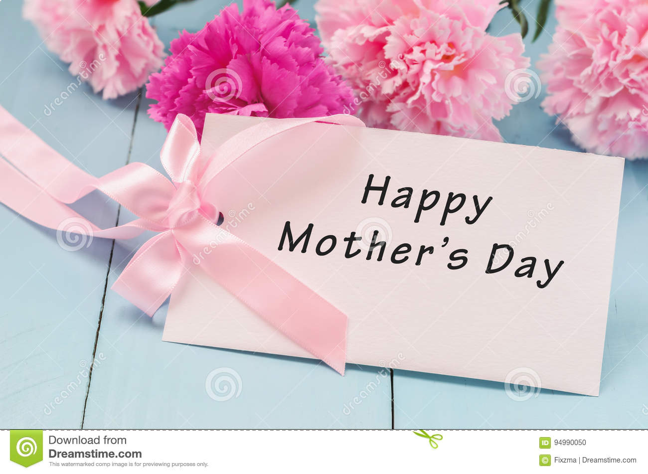 Greeting Card With Happy Mothers Day Stock Photo Image Of Retro