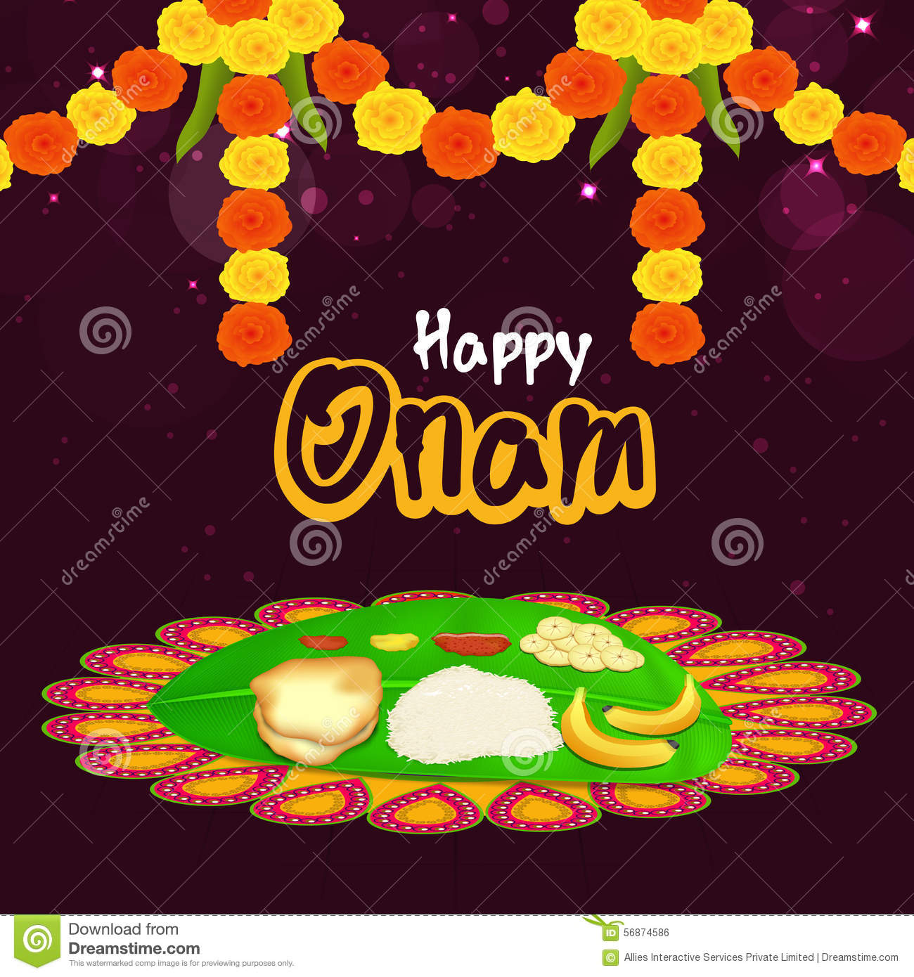 Greeting card for happy onam celebration stock illustration download greeting card for happy onam celebration stock illustration illustration of card design m4hsunfo