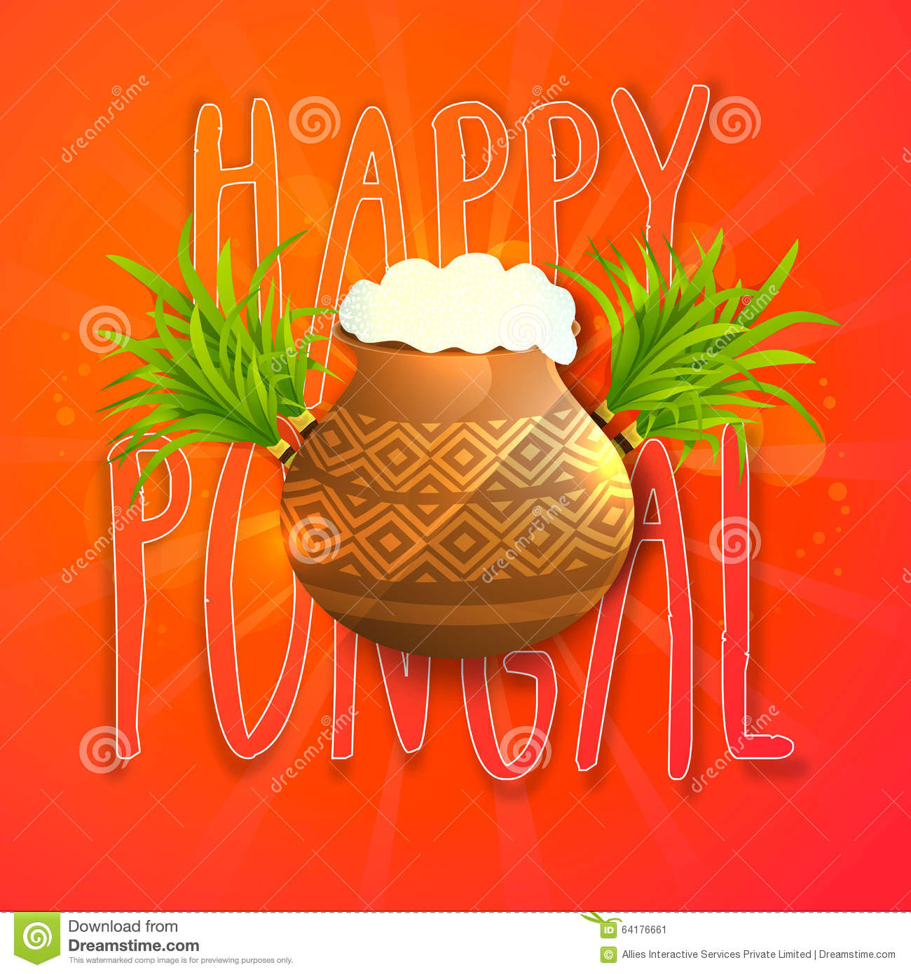 Greeting card for happy pongal celebration stock illustration greeting card for happy pongal celebration m4hsunfo