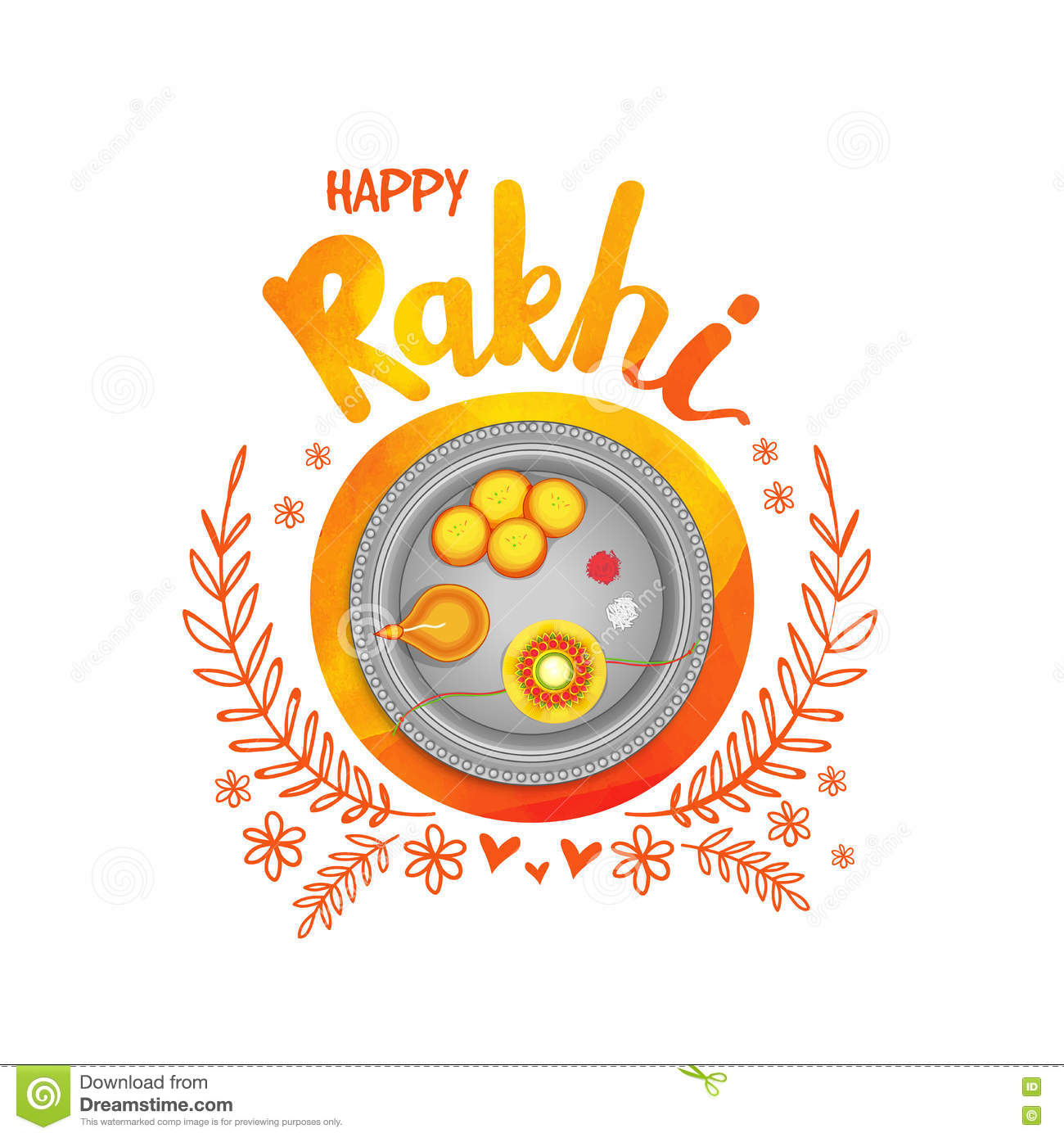 Greeting card for happy rakhi celebration stock illustration greeting card for happy rakhi celebration m4hsunfo
