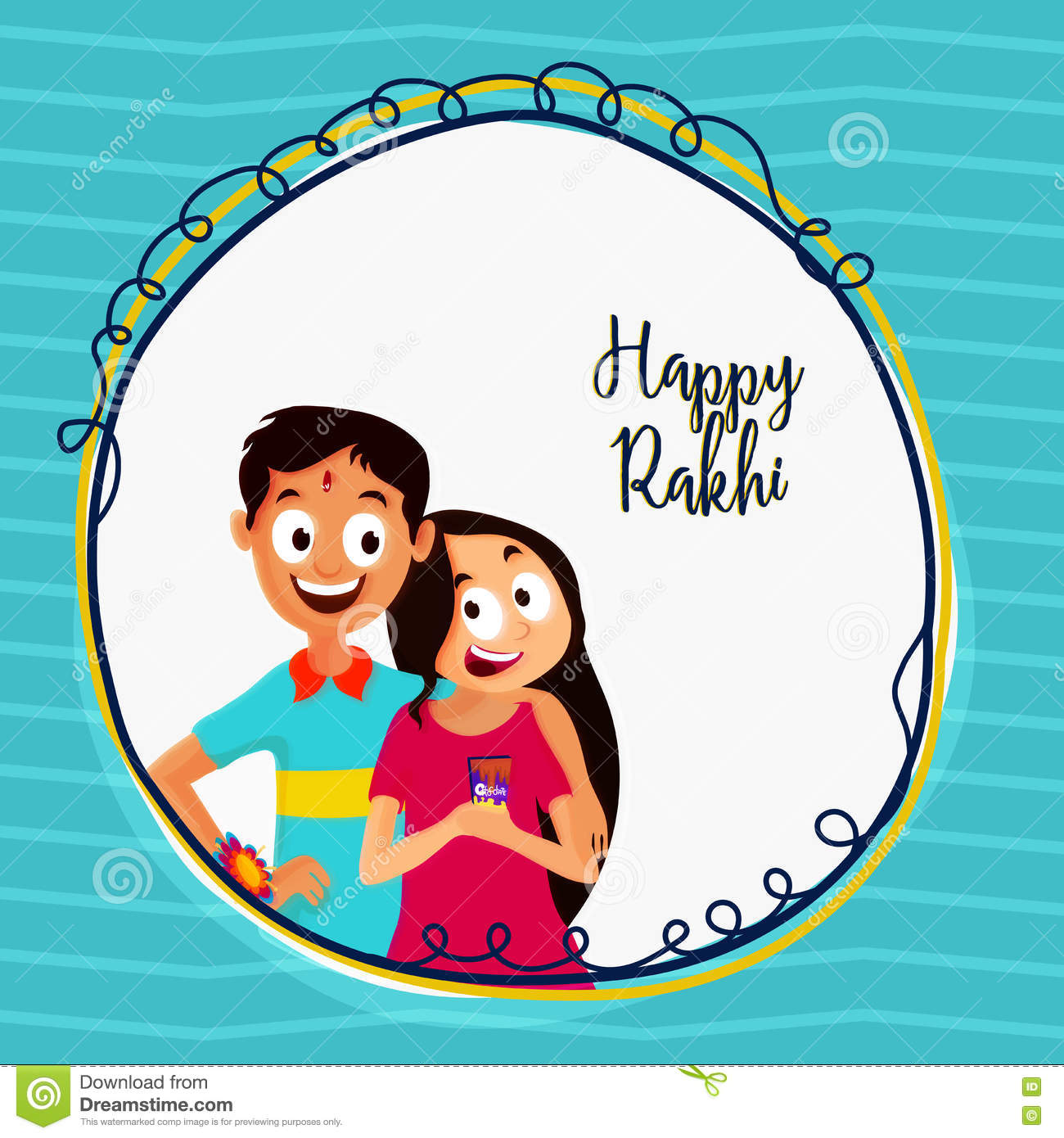 Greeting card for happy rakhi celebration stock illustration download greeting card for happy rakhi celebration stock illustration illustration of hinduism bond m4hsunfo