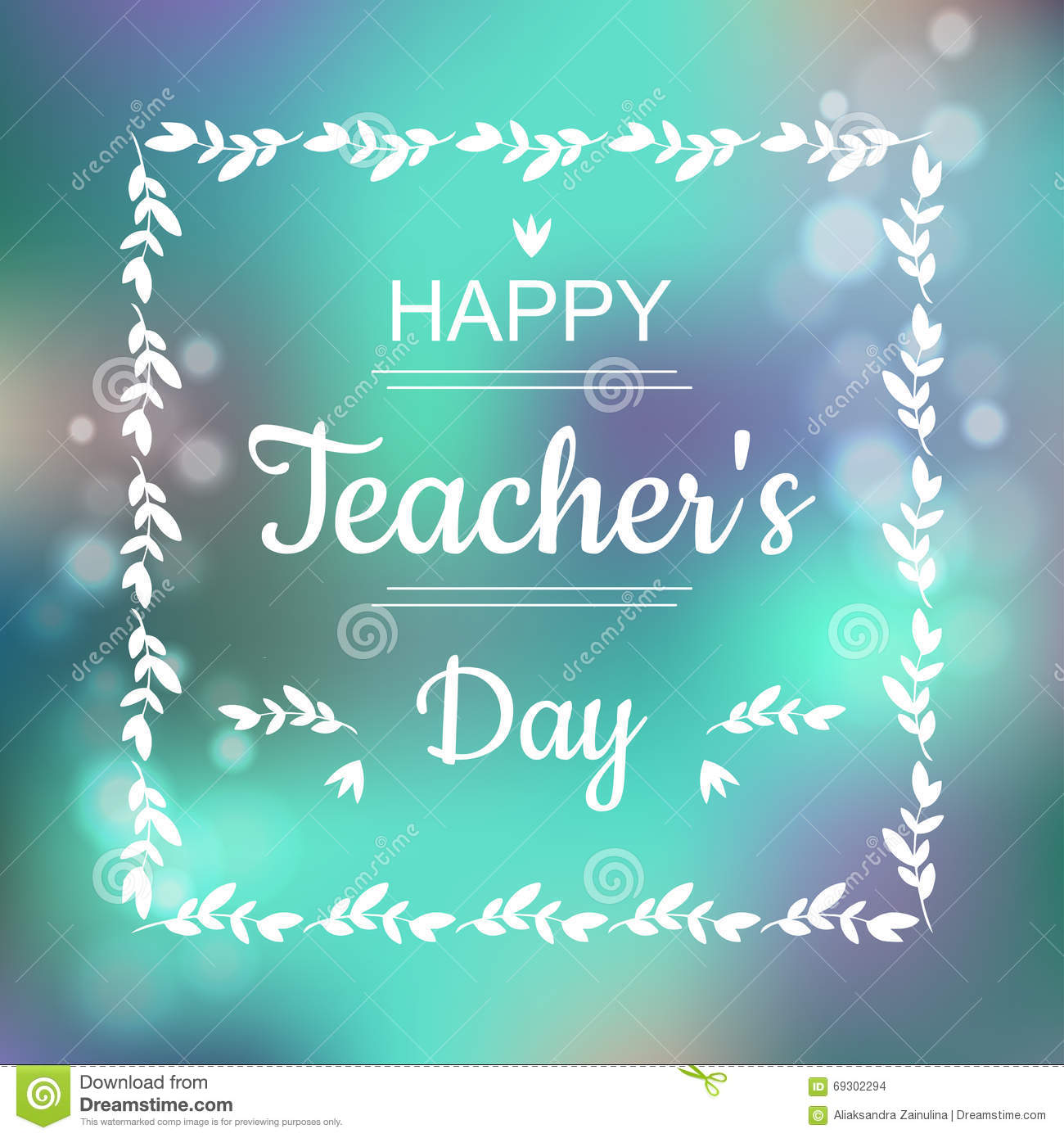 Greeting card happy teachers day stock vector illustration of greeting card for happy teachers day abstract background and text in square frame in vector kristyandbryce Image collections