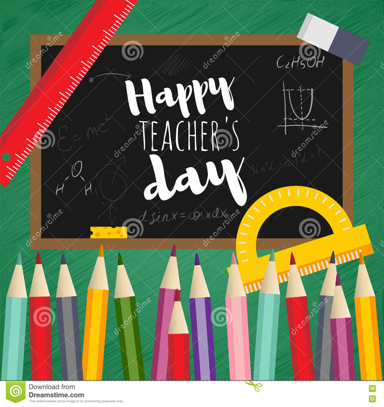 Greeting card happy teachers day stock vector illustration of greeting card happy teachers day m4hsunfo
