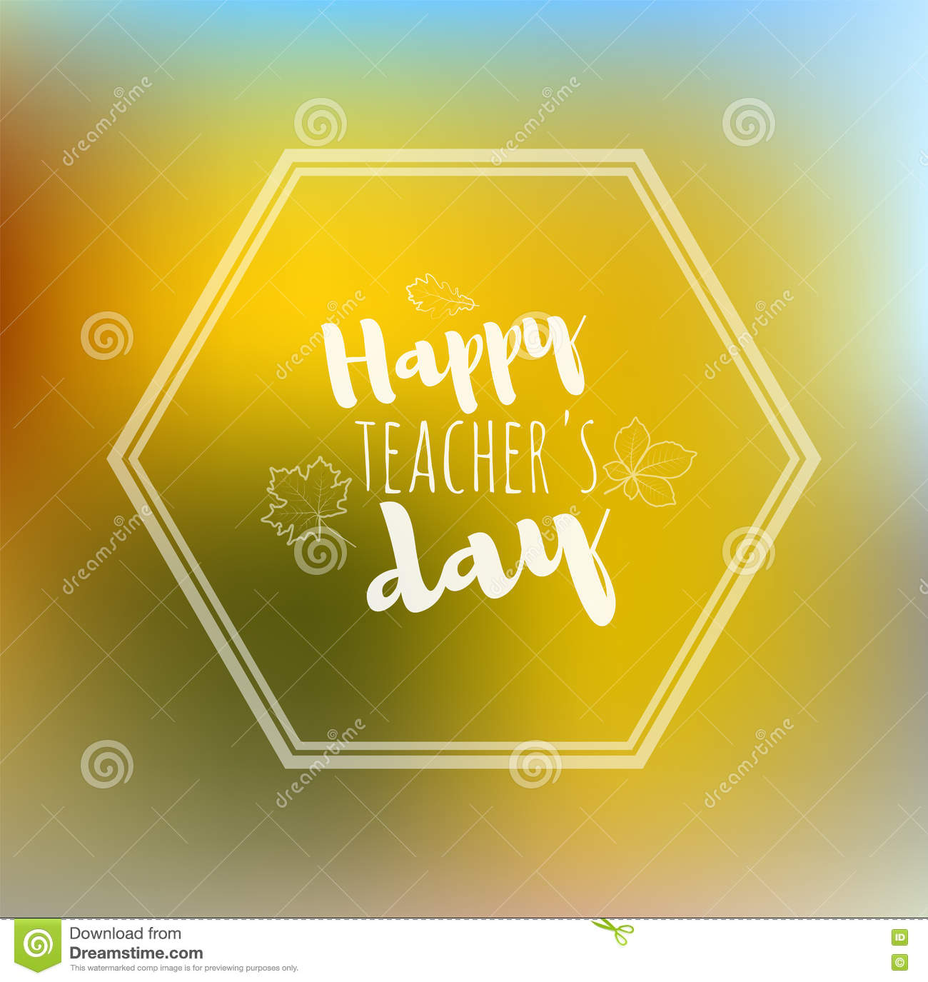 Greeting card happy teachers day yellow back stock vector greeting card happy teachers day yellow back kristyandbryce Image collections
