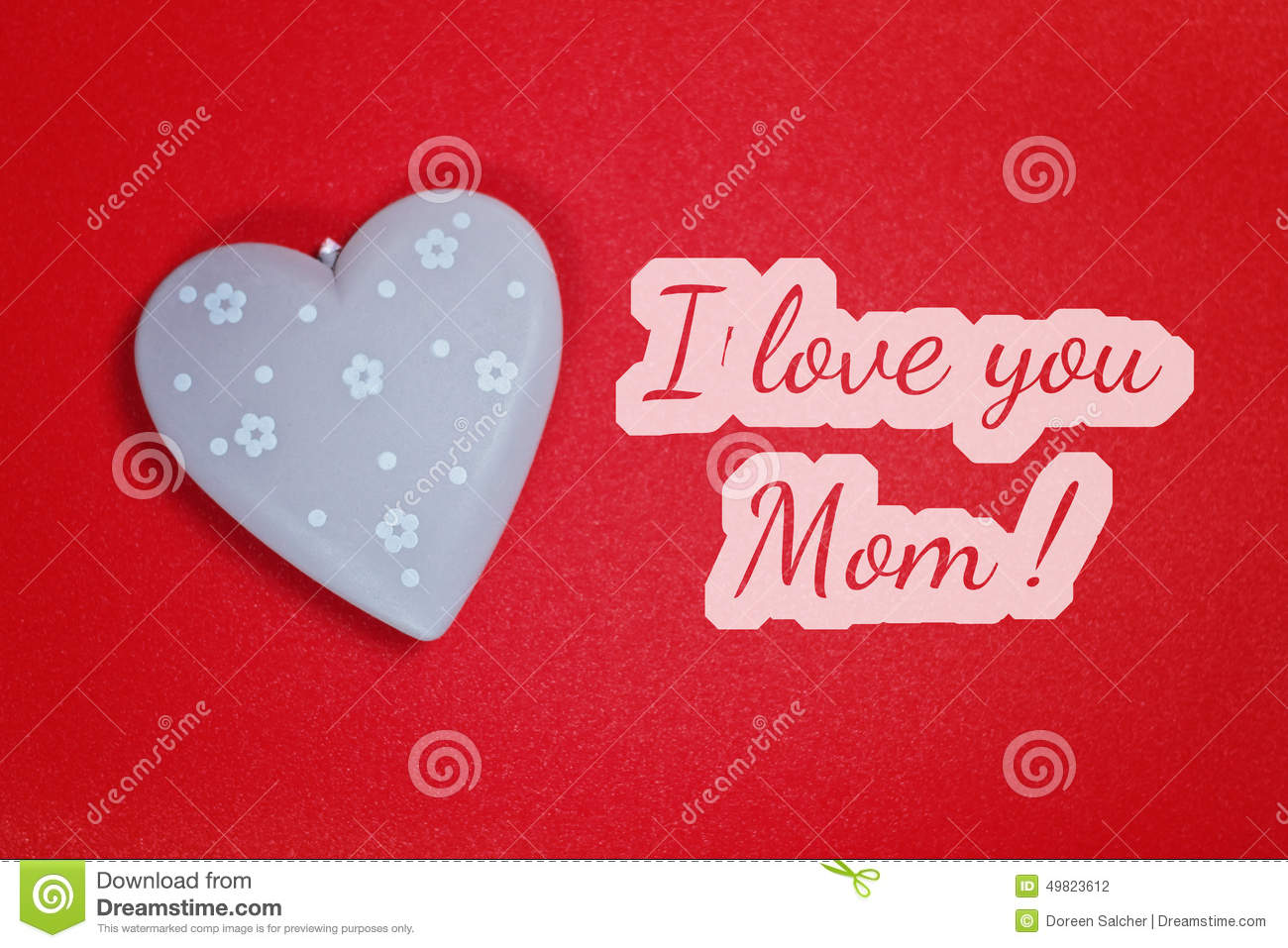 Greeting Card I Love You Mom Stock Photo Image Of Card Best