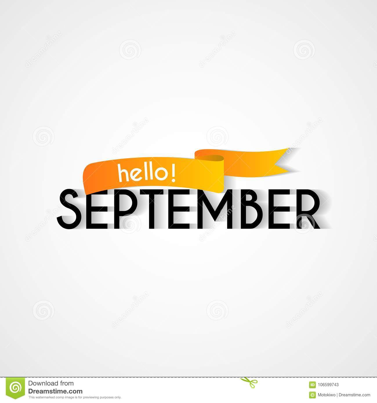 Happy New Month September Background Design Stock Illustration