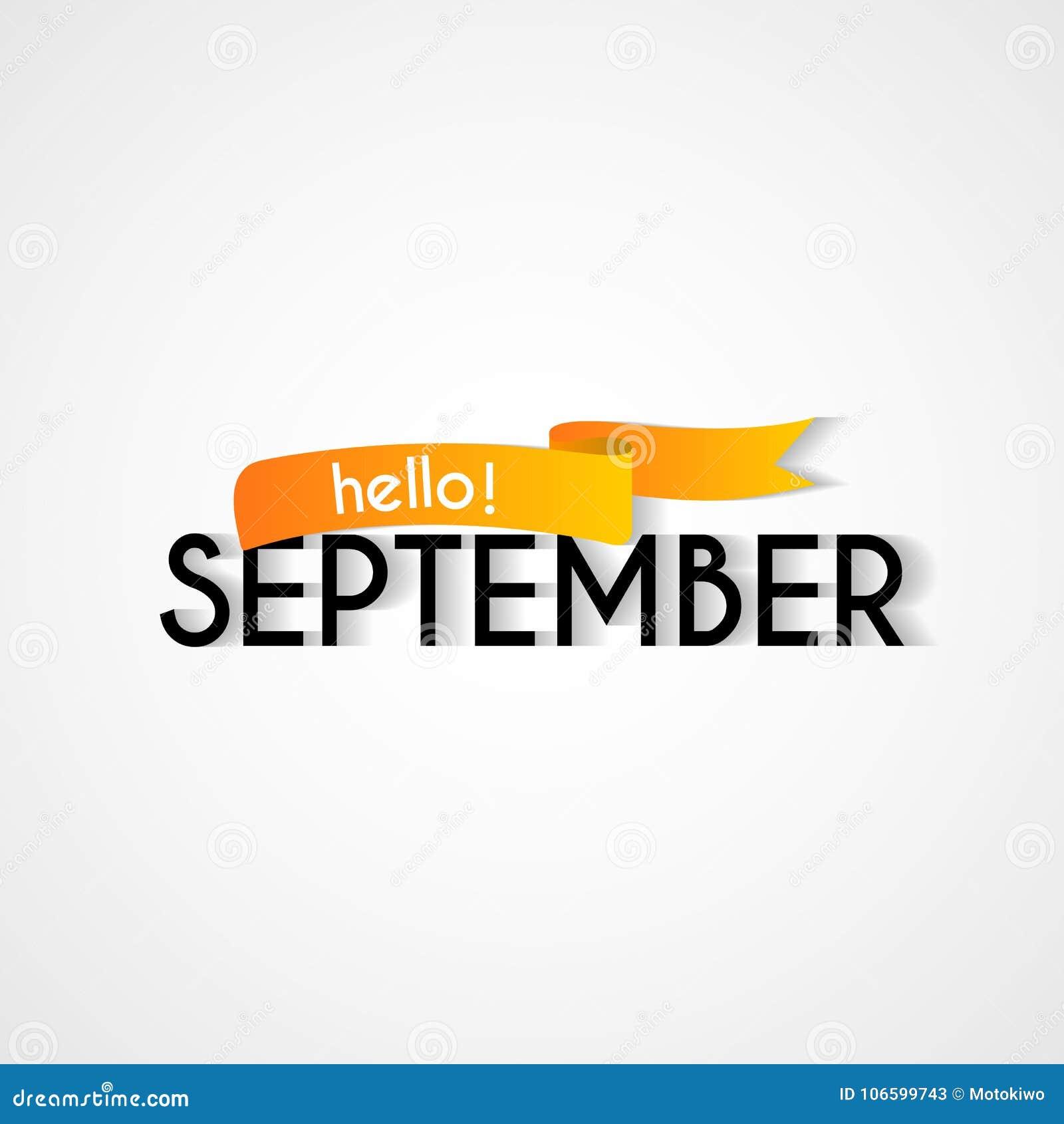 Happy new month september background design stock illustration happy new month september background design m4hsunfo