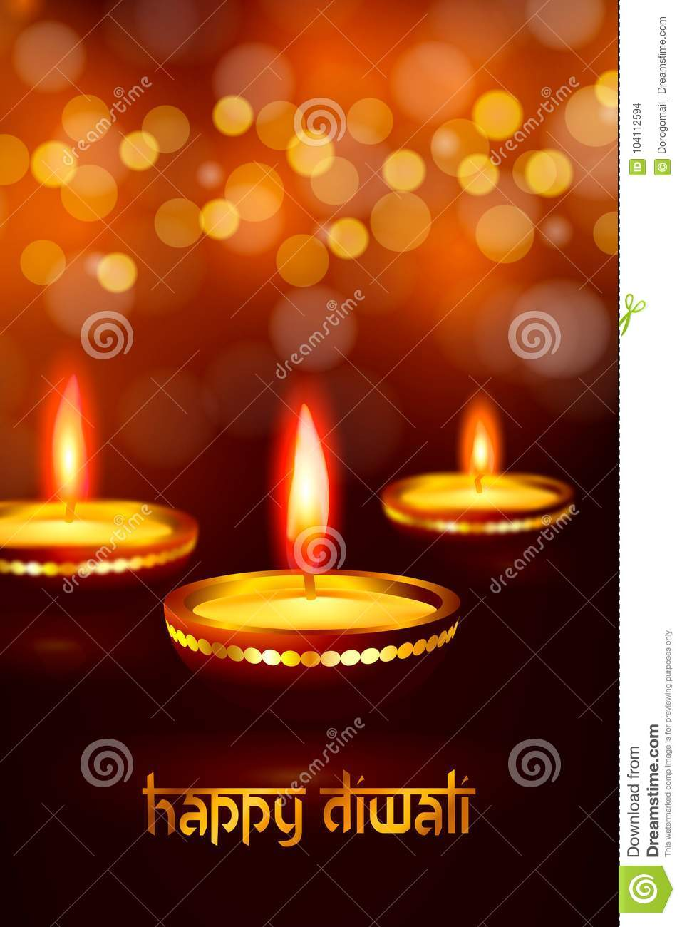 Beautiful greeting card for hindu community festival diwali happy greeting card for indian deepavali hindu festival happy diwali design greeting card with lamps candle light flame with blur effect background and m4hsunfo