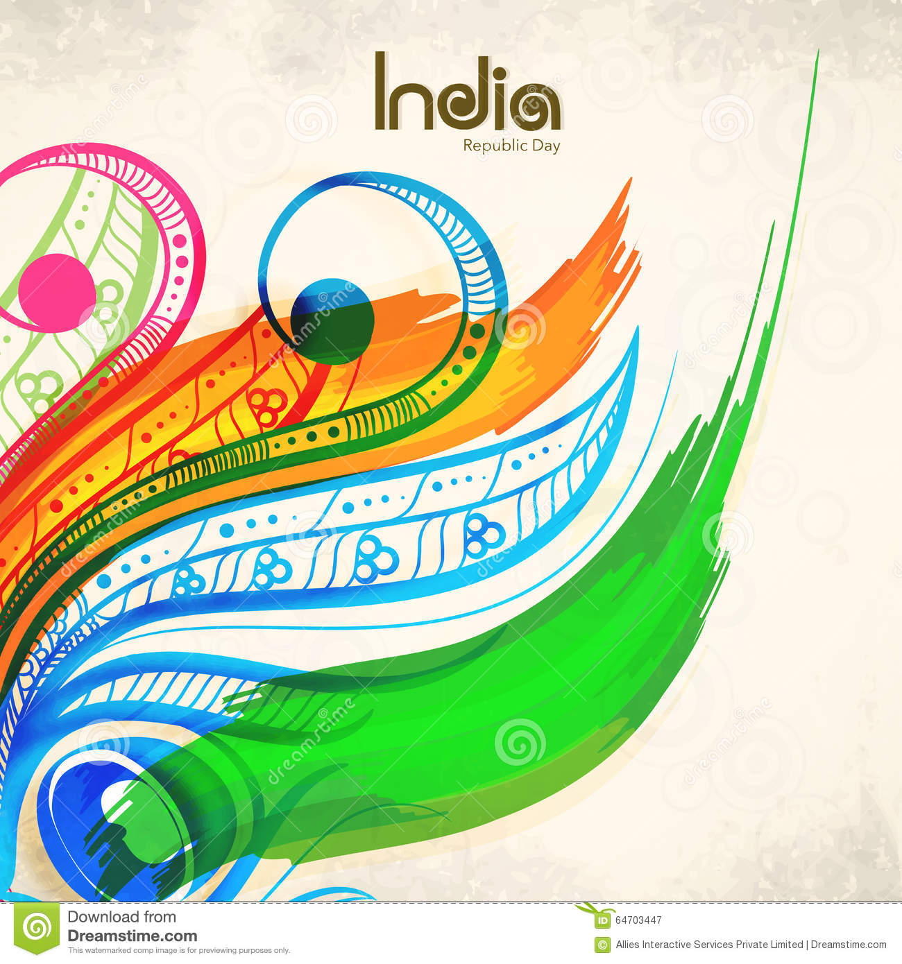 Greeting Card For Indian Republic Day Celebration Stock