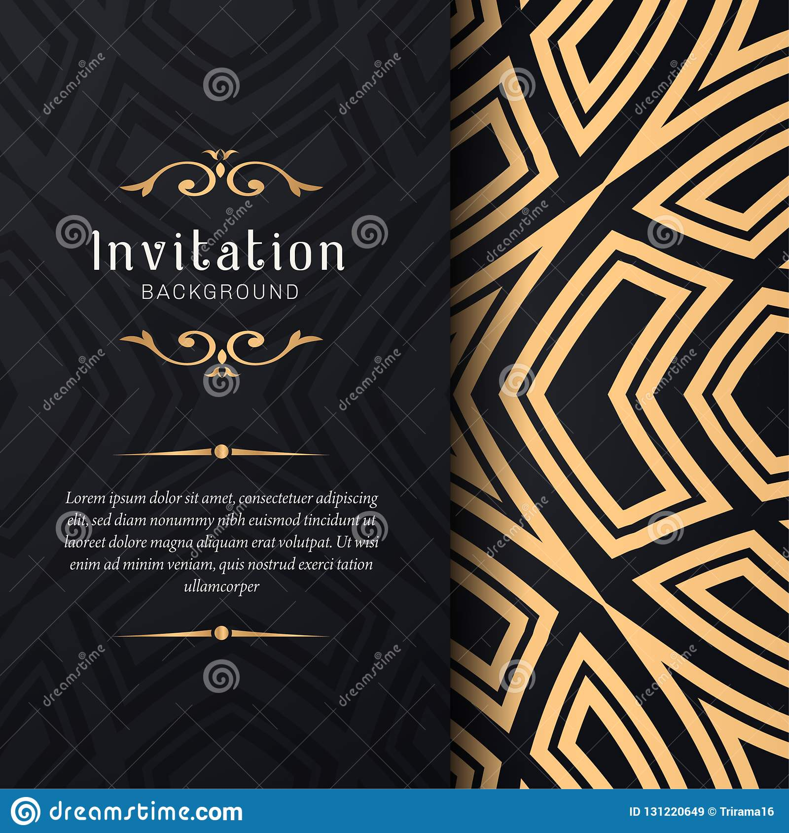 Greeting Card Invitation With Lace And Floral Ornaments
