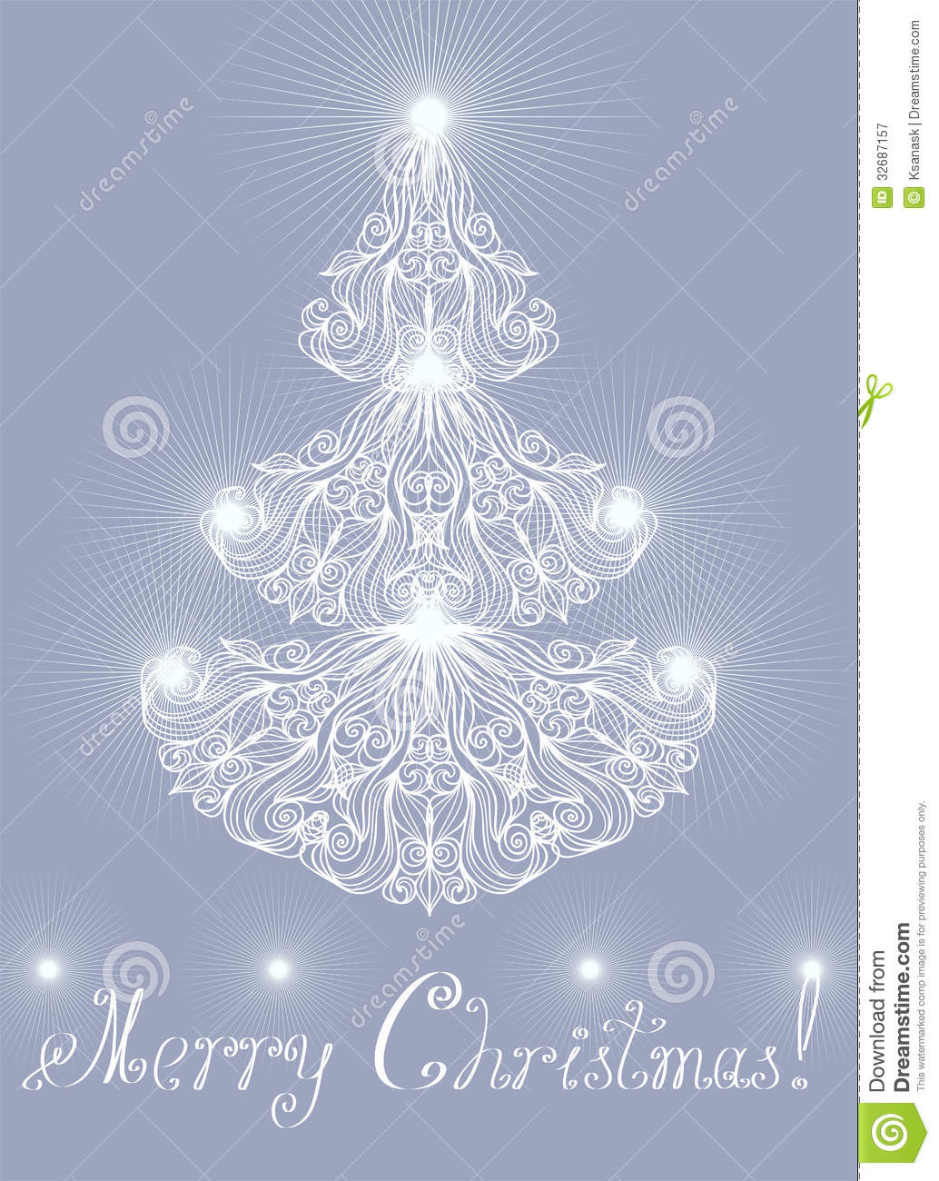 Greeting card with lacy pine royalty free stock for Elegant christmas card messages