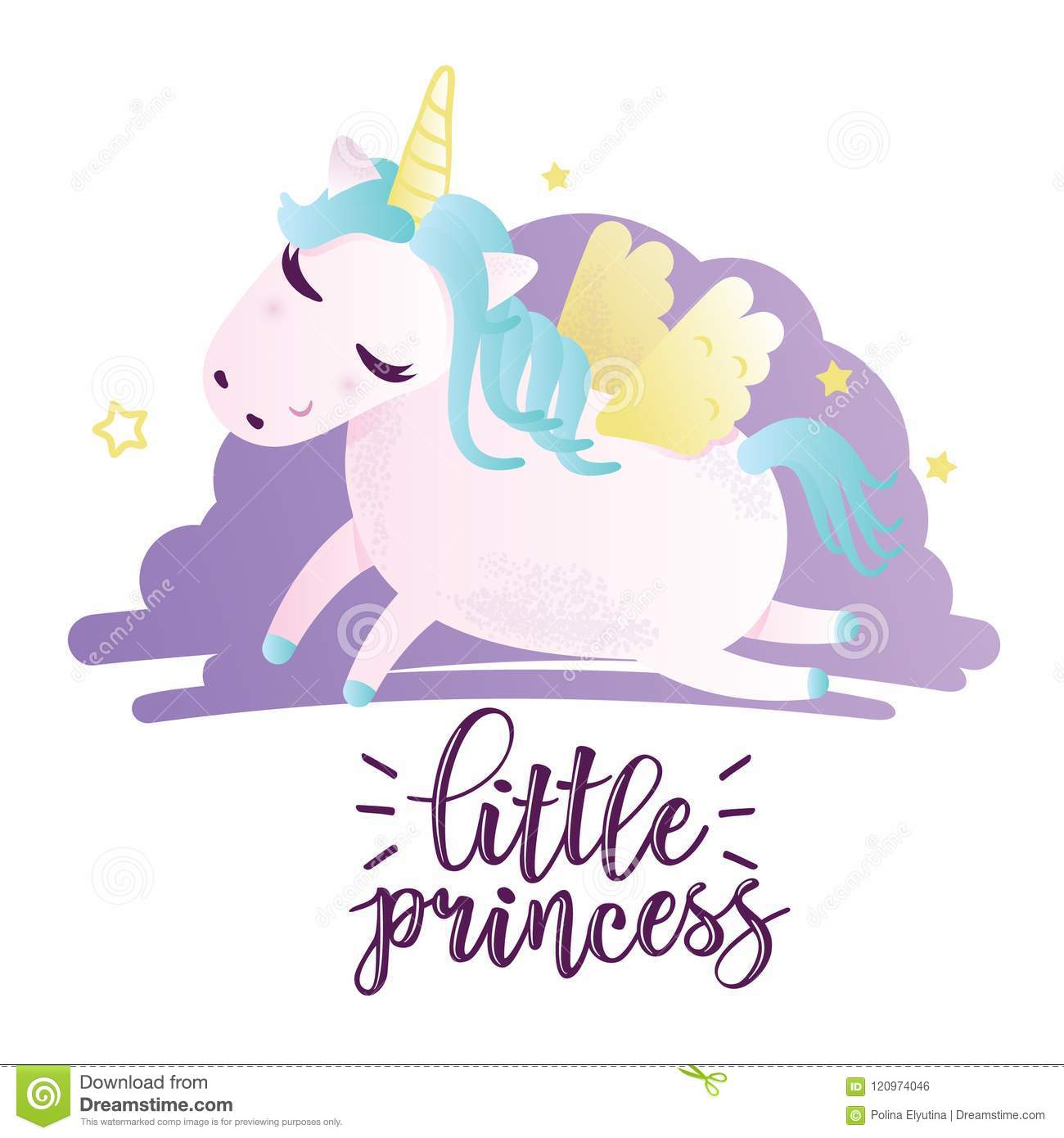 Greeting card with little princess inscription stock vector greeting card with little princess inscription m4hsunfo