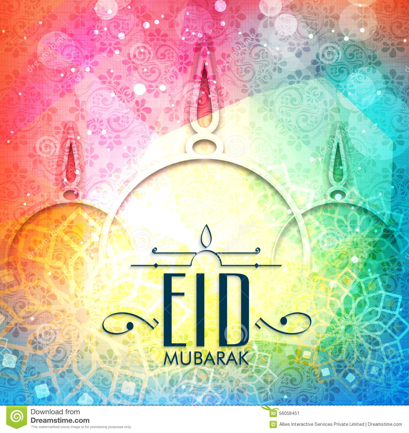Eid Mubarak Greeting Social Banner Royalty Free Stock Photography