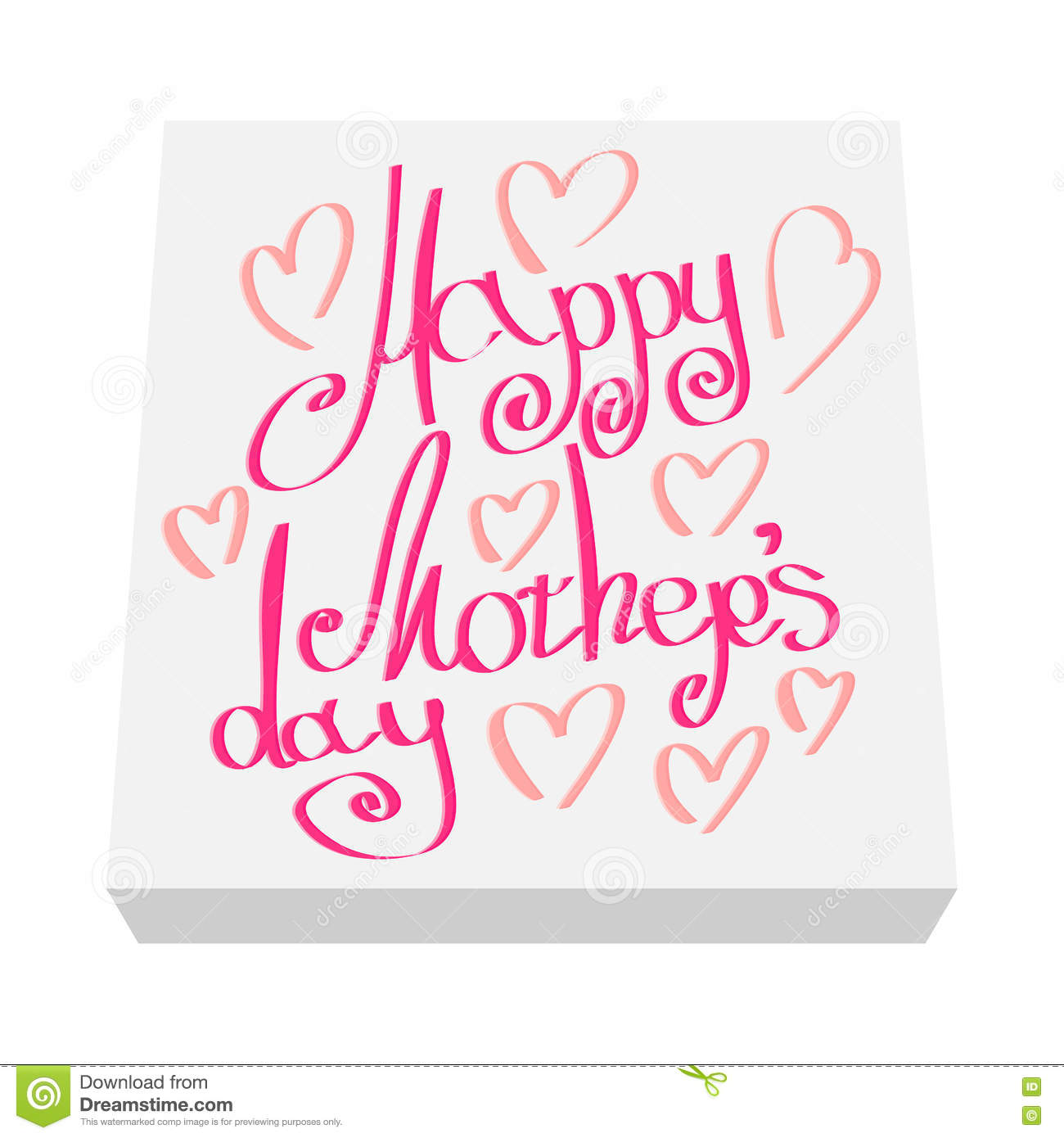 Greeting Card For Mother Day Cartoon Icon Stock Vector