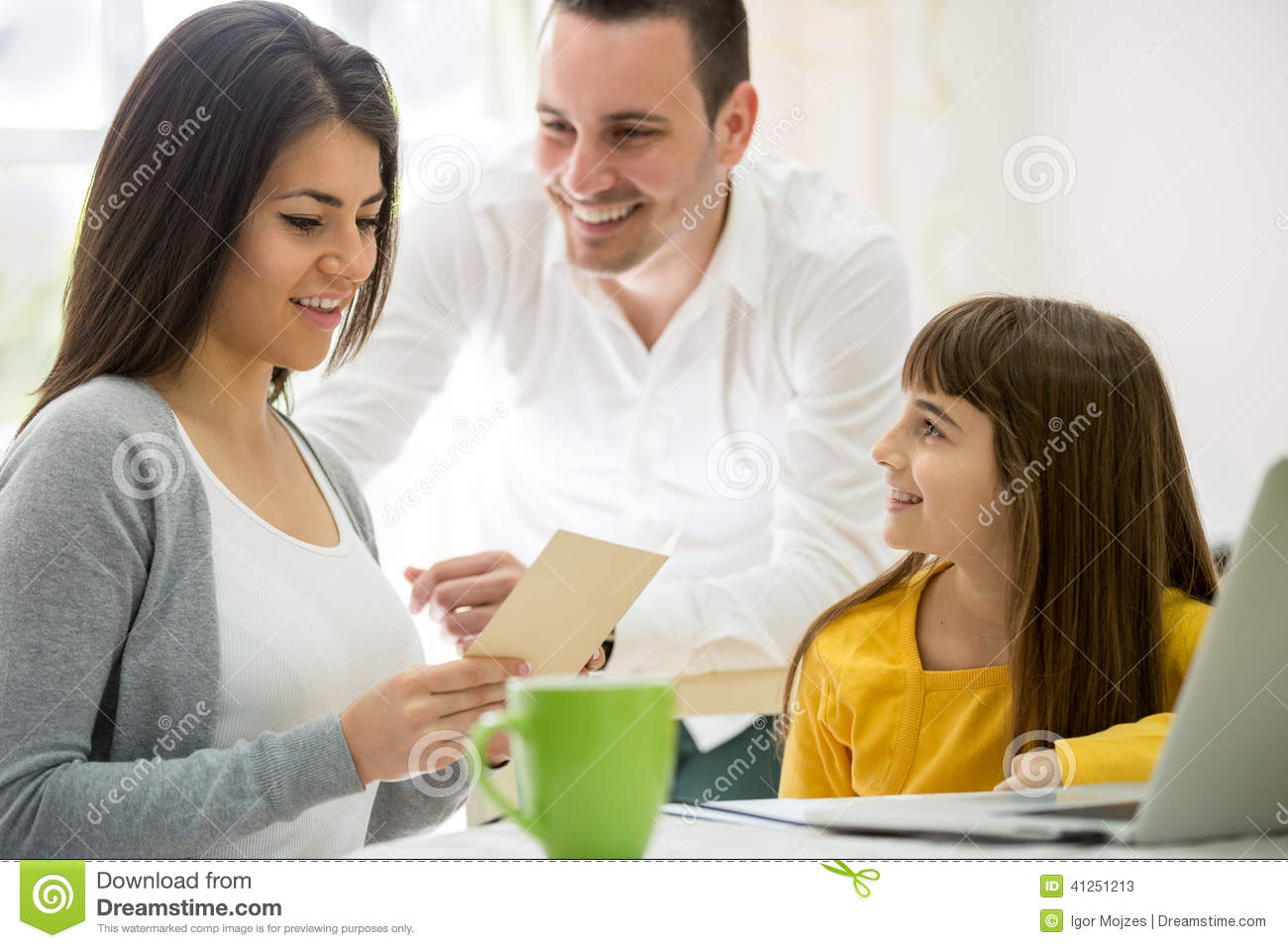 Greeting card for mother and wife