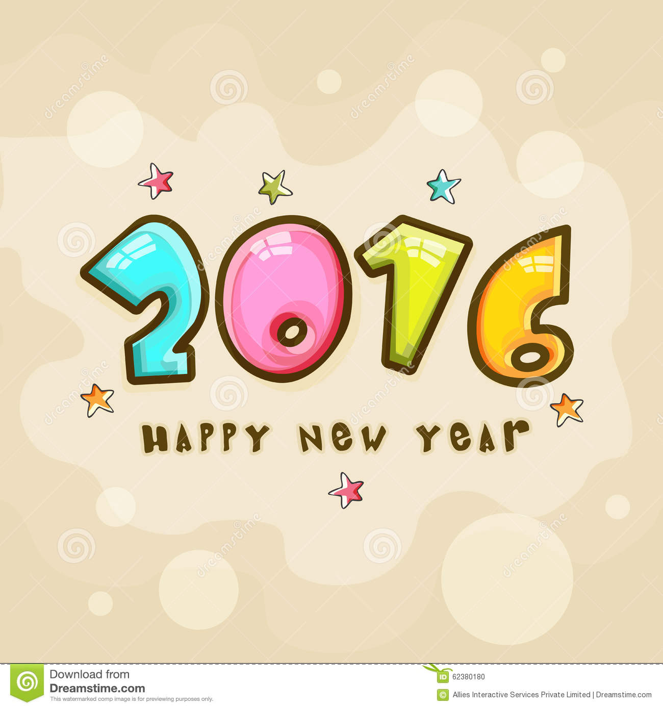 greeting card for new year 2016 celebration