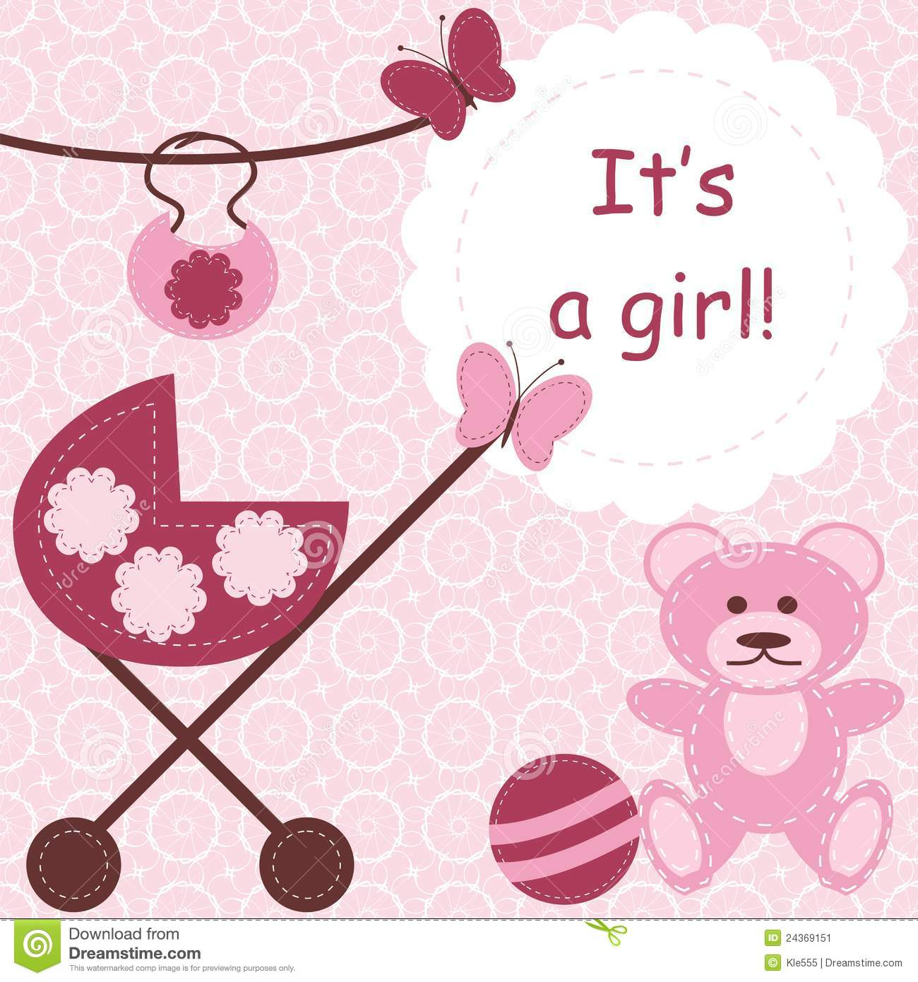 Greeting card for newborn girl stock illustration illustration of greeting card for newborn girl m4hsunfo Image collections