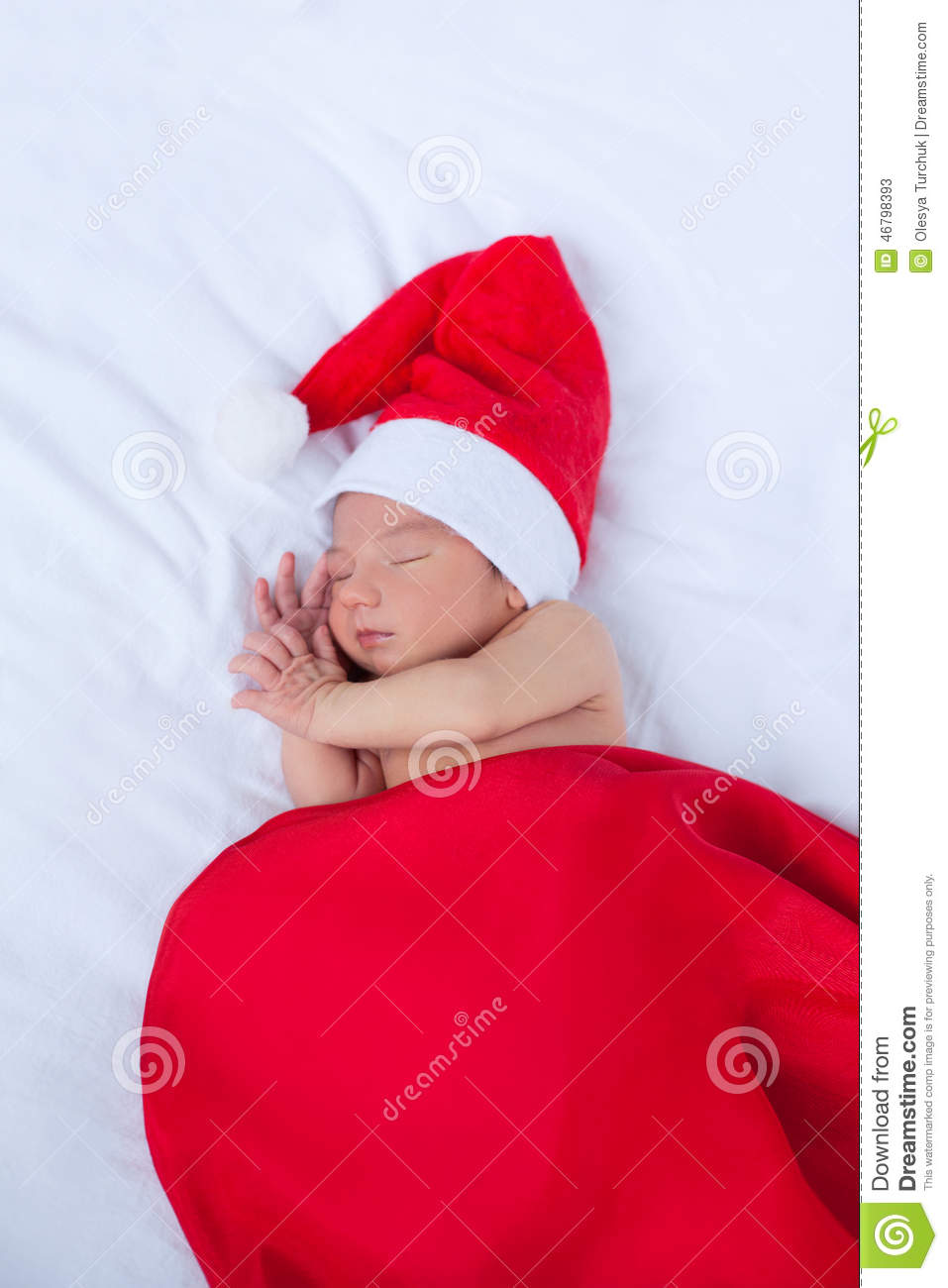 defdc25f71a7f Greeting Card With Newborn Santa Stock Image - Image of beauty ...