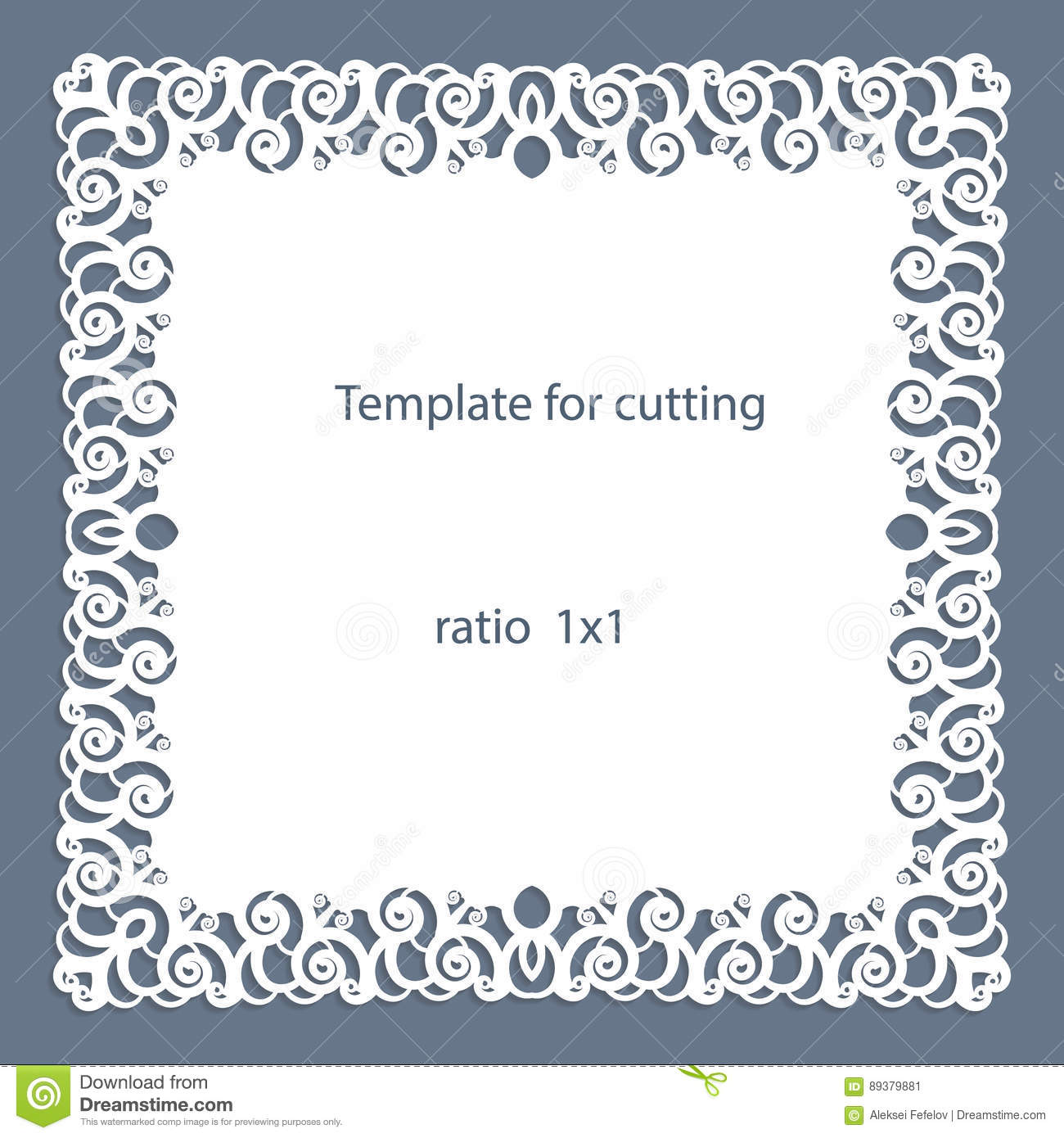 Plate For Cutting A Cake