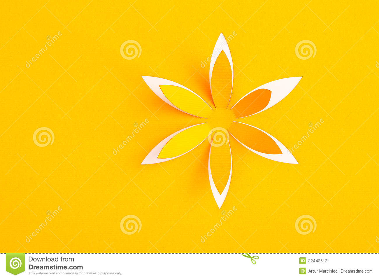 Greeting Card With Paper Flower Stock Photo Image Of Romantic