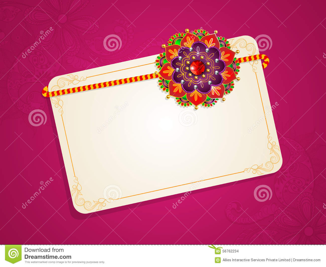 Greeting Card For Raksha Bandhan Celebration Stock Illustration
