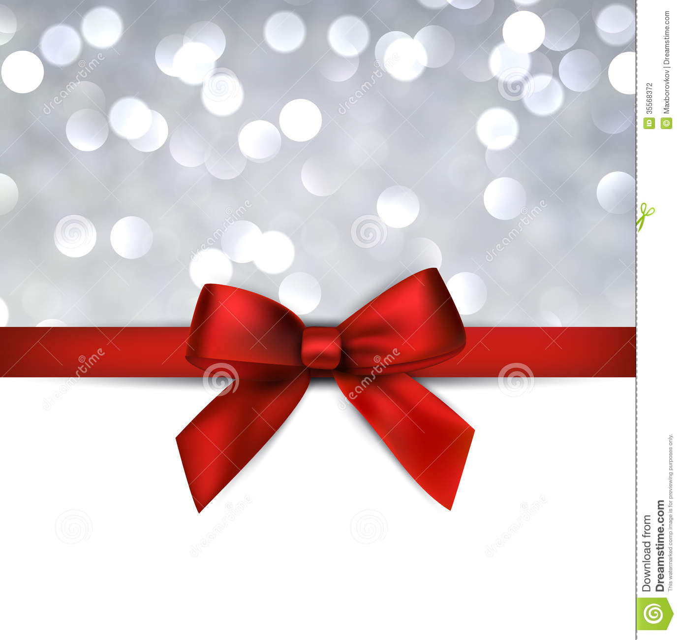 greeting card with red bow  stock photography
