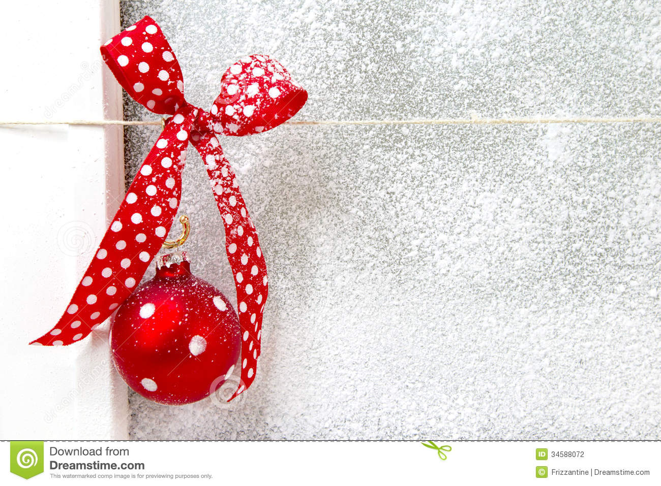 Greeting card with a red dotted ribbon on a white - Felicitaciones de navidad cristianas ...