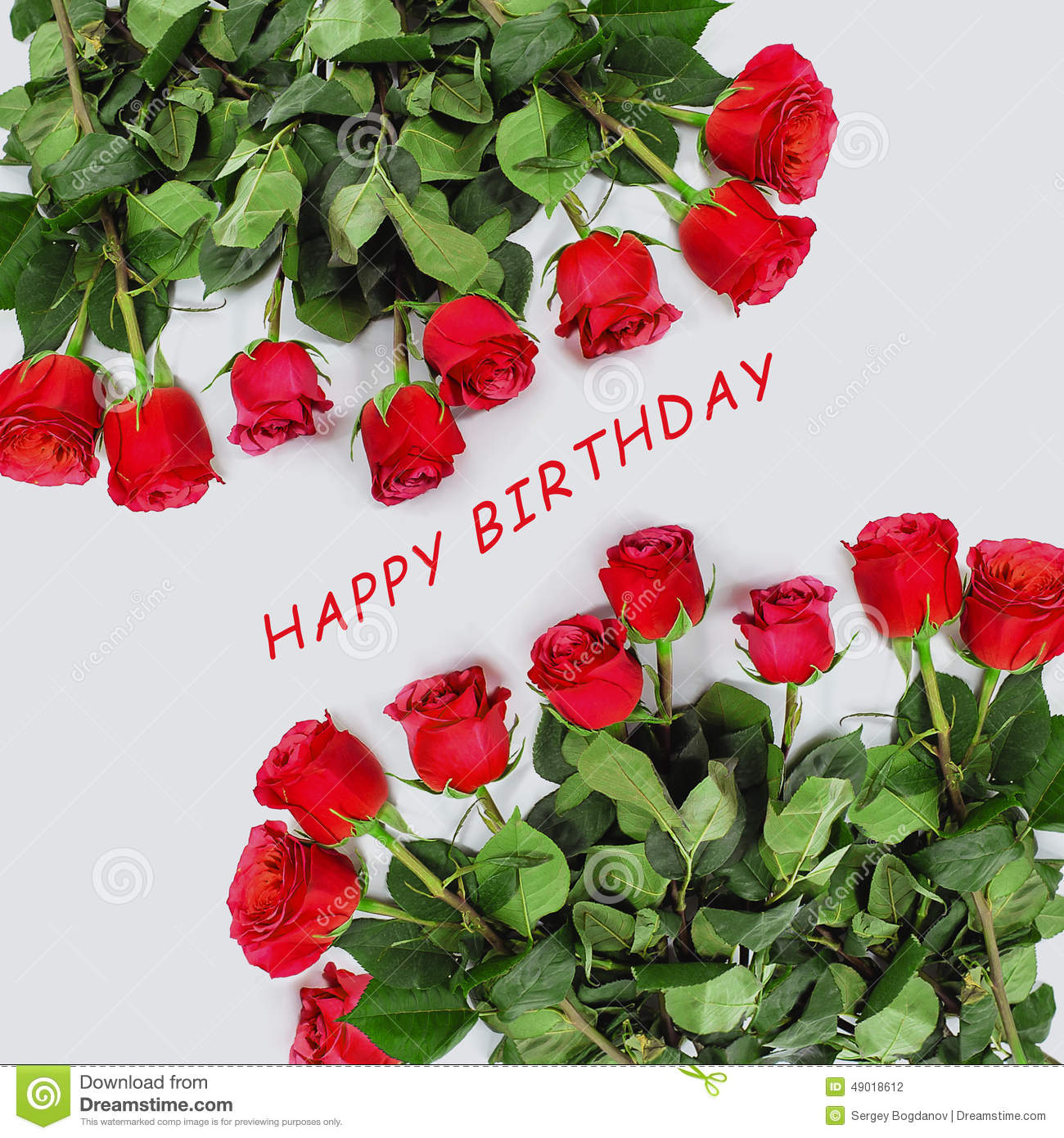 Greeting Card With Red Roses Stock Photo Image Of Card Bunch