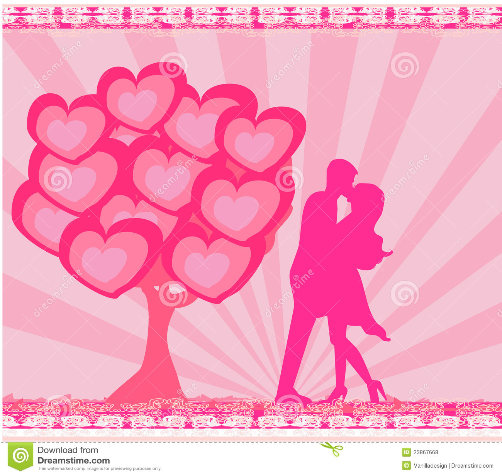Greeting card romantic couple stock illustration illustration of greeting card romantic couple m4hsunfo