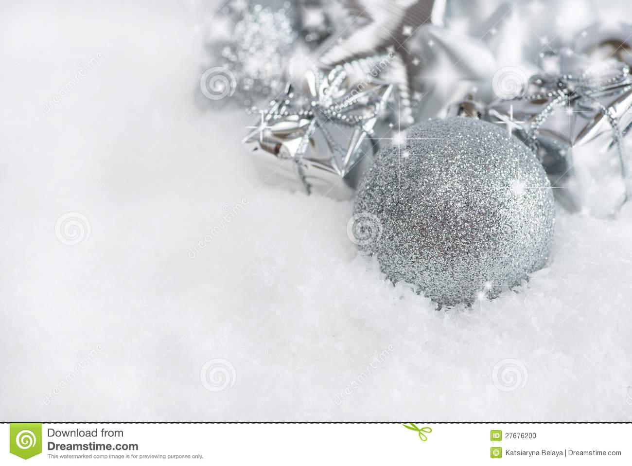 Silver Christmas Photos, Images, & Pictures - Dreamstime ID:19736