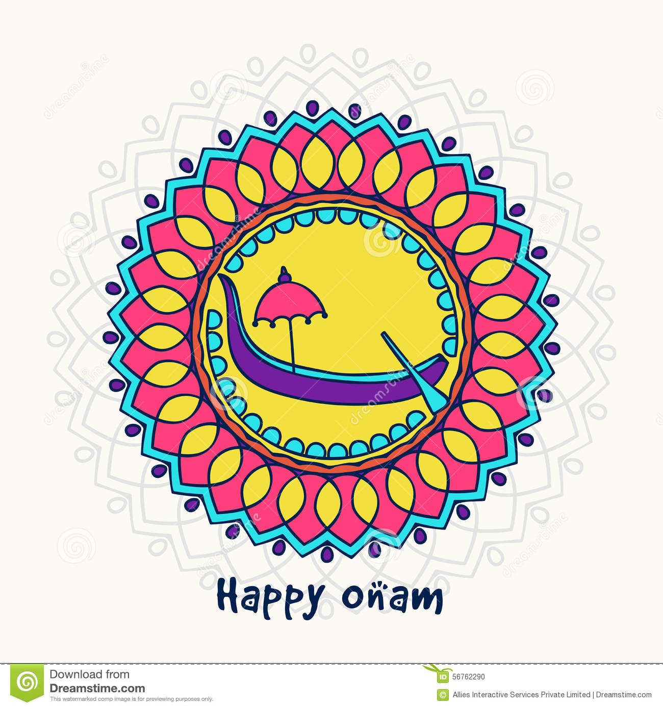 Greeting card for south indian festival onam stock illustration greeting card for south indian festival onam royalty free illustration kristyandbryce Image collections