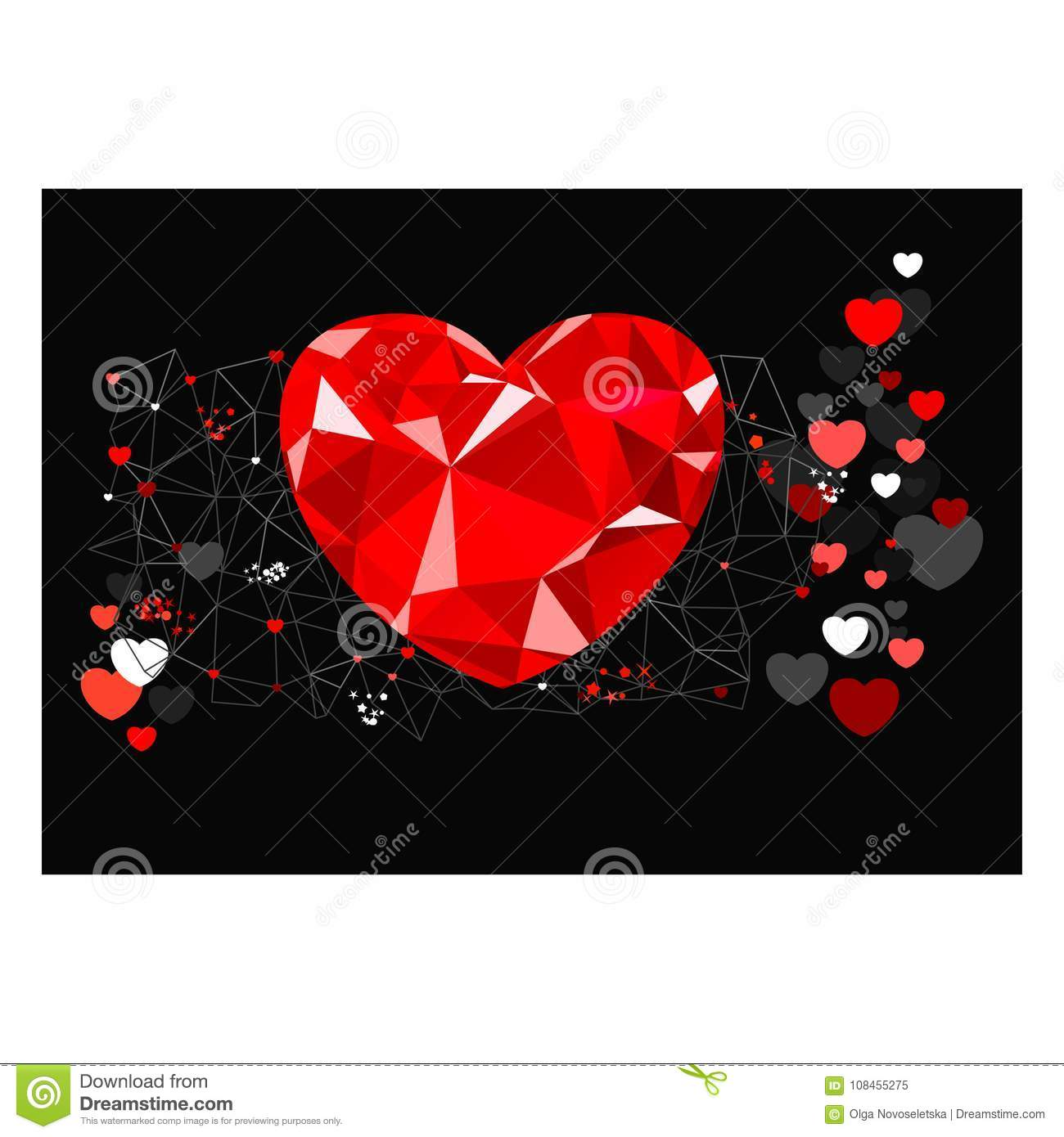 Abstract Greeting Card For Valentine Day Stock Vector Illustration