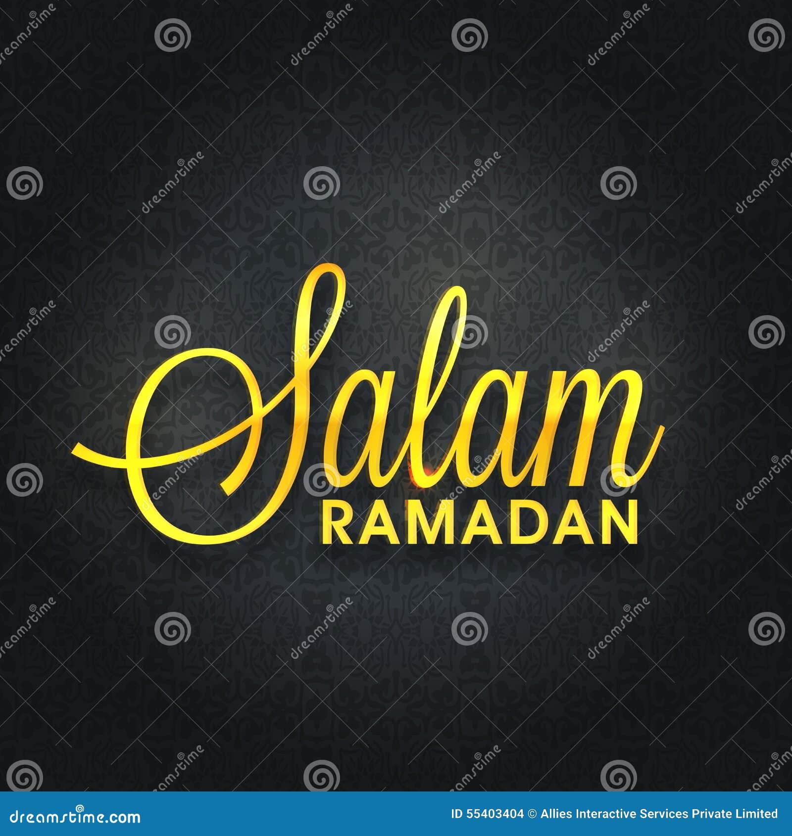 Greeting Card With Stylish Text For Ramadan Kareem Stock