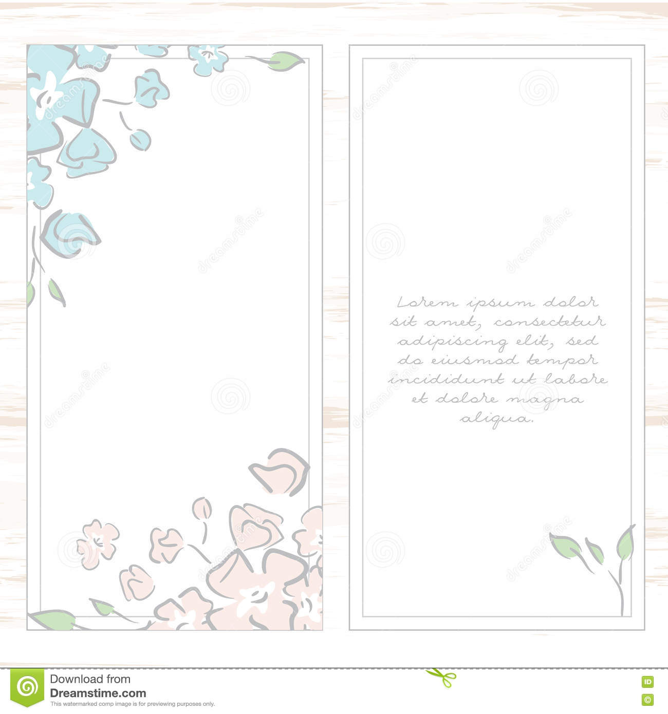Greeting Card Template Floral Background Stock Vector