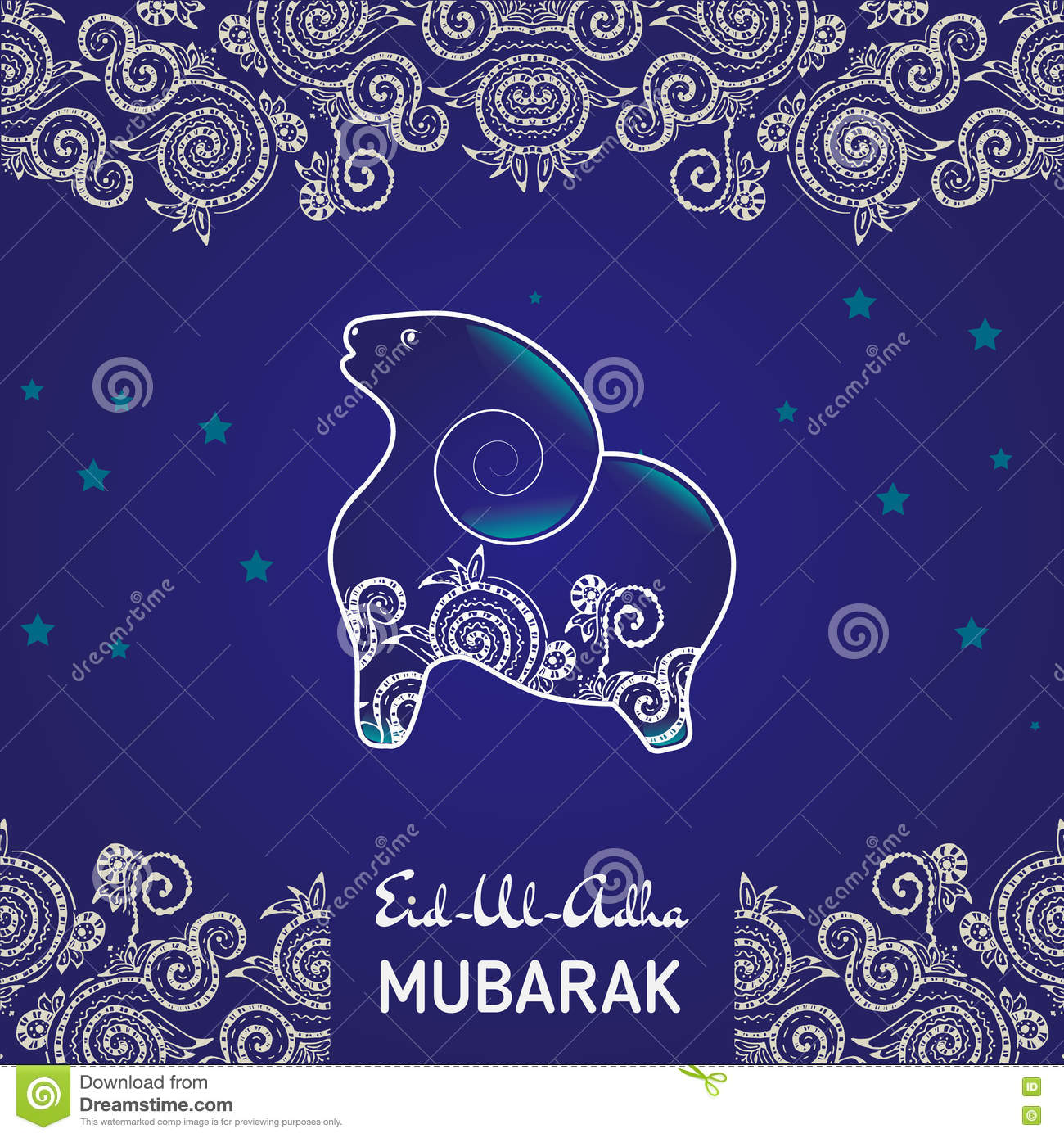 Greeting Card Template For Muslim Community Festival Of Sacrifice