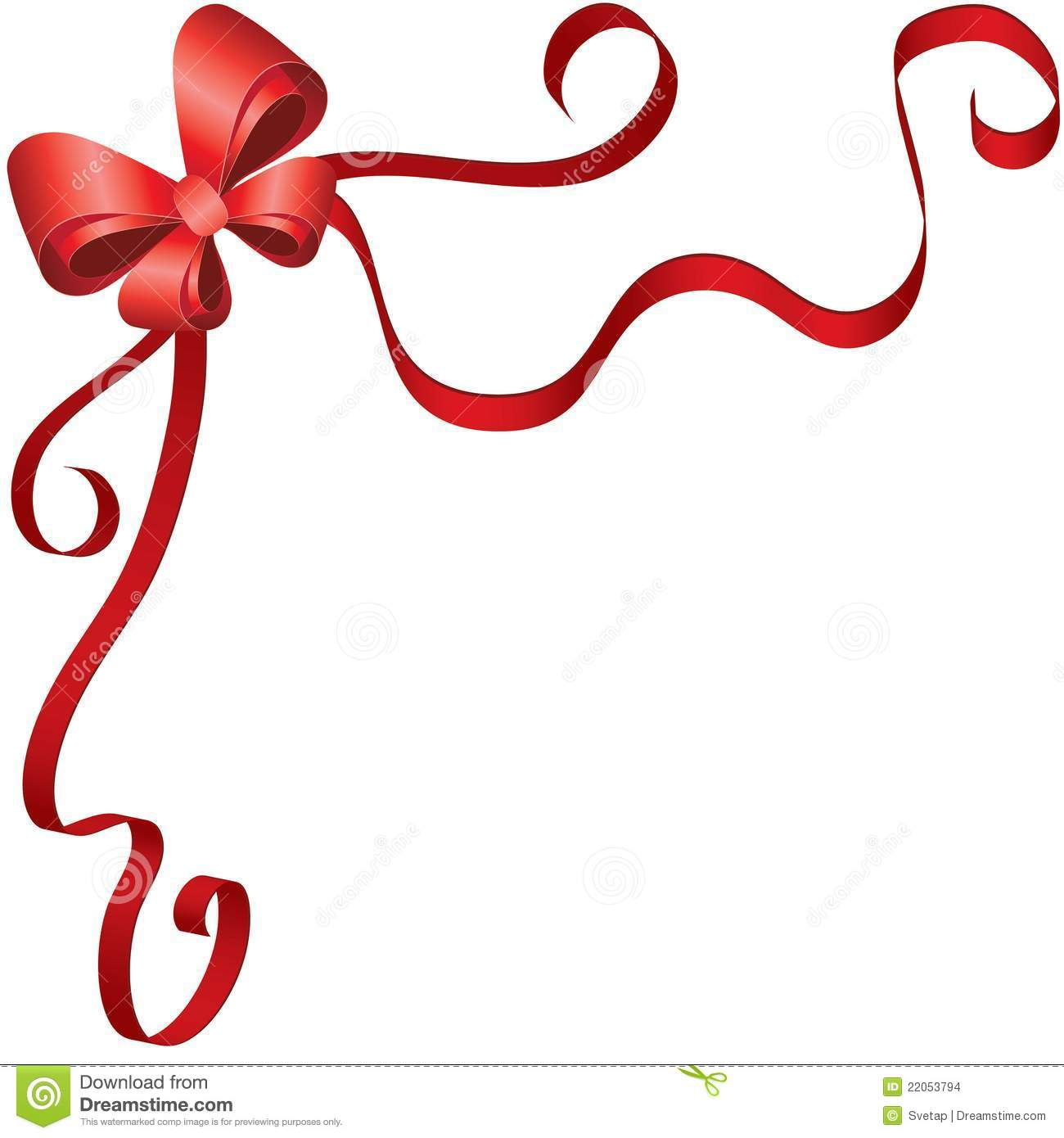 Greeting Card Template With Ribbon And Bow Stock Images